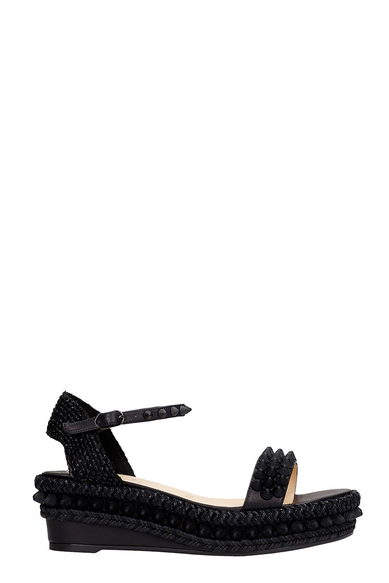 Lata 60 Wedges In Black Leather