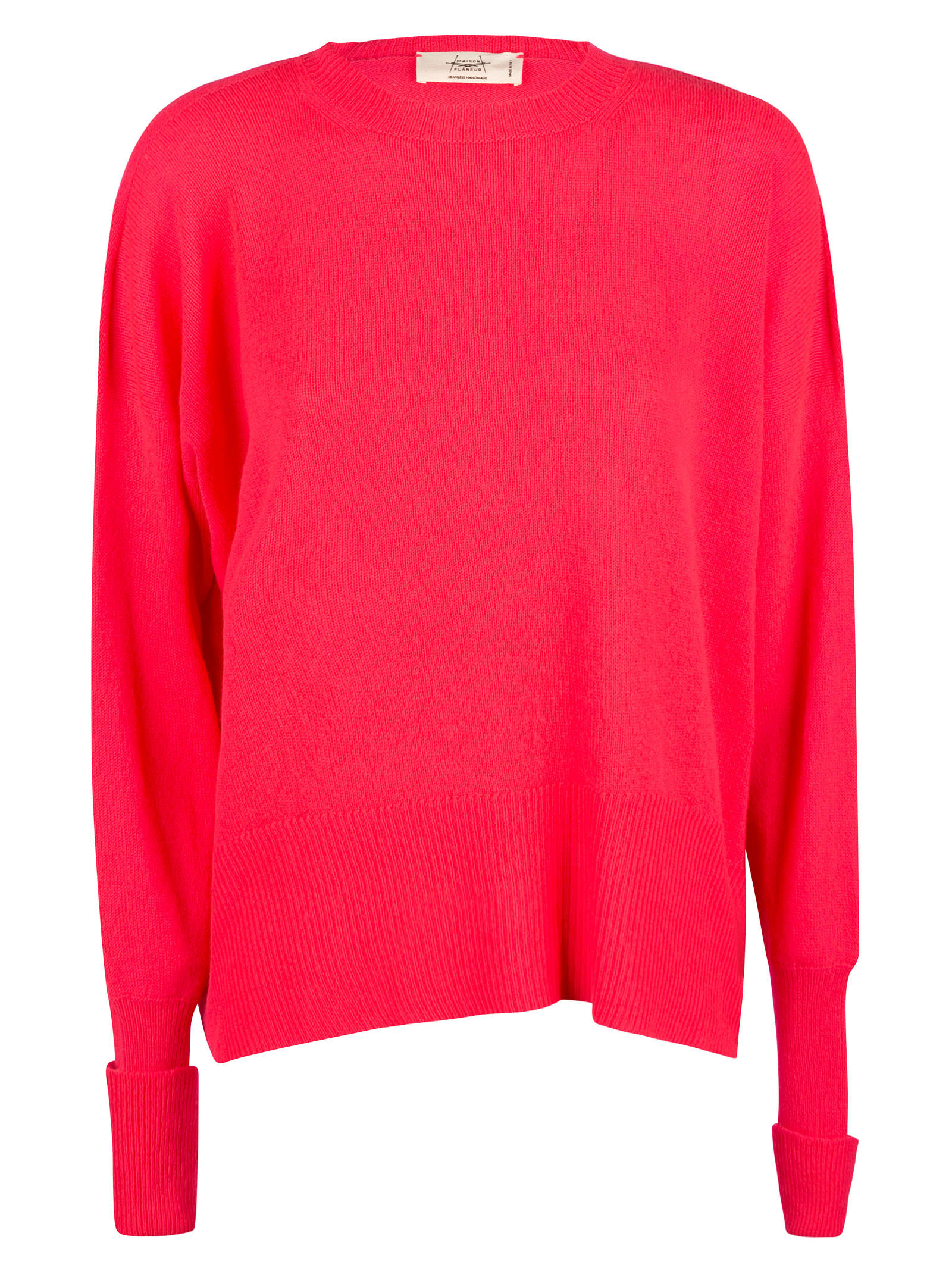 Side Slit Plain Knit Sweater