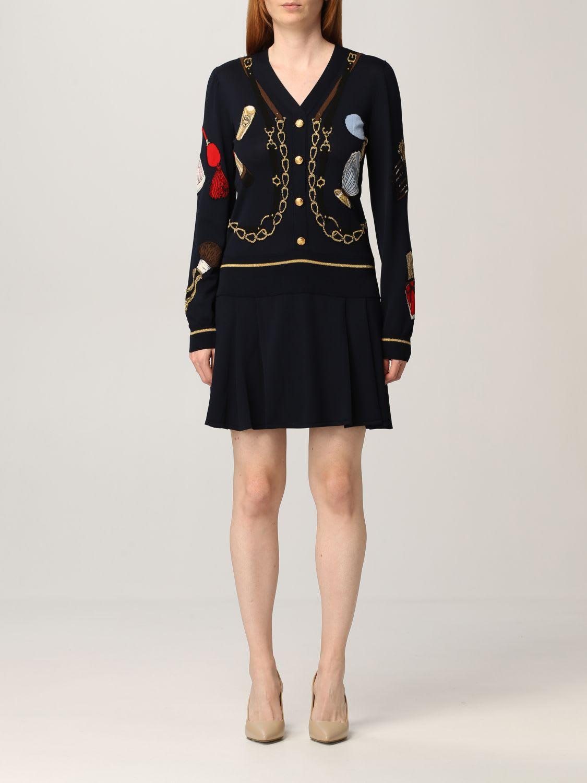Boutique Moschino Dress Moschino Boutique Short Dress In Jacquard Knit