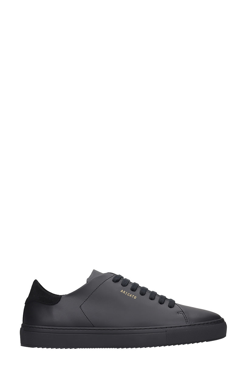 Axel Arigato Clean 90 Sneakers In Black Leather