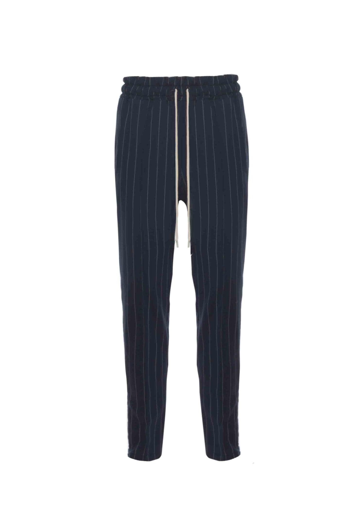 Classic Pants Gessato Blue