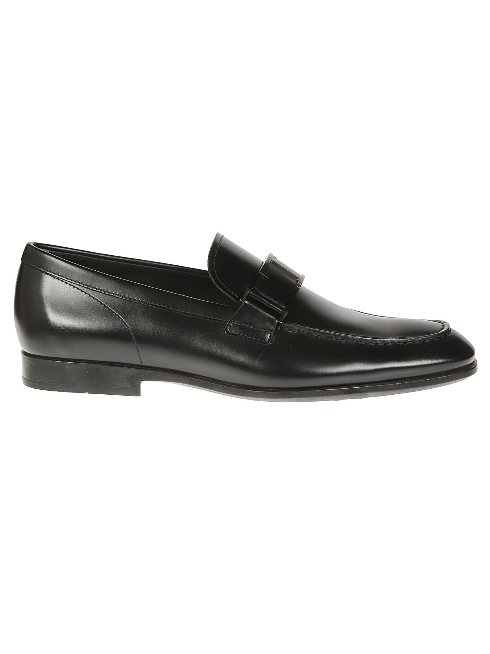 Tods T Logo Plaque Loafers