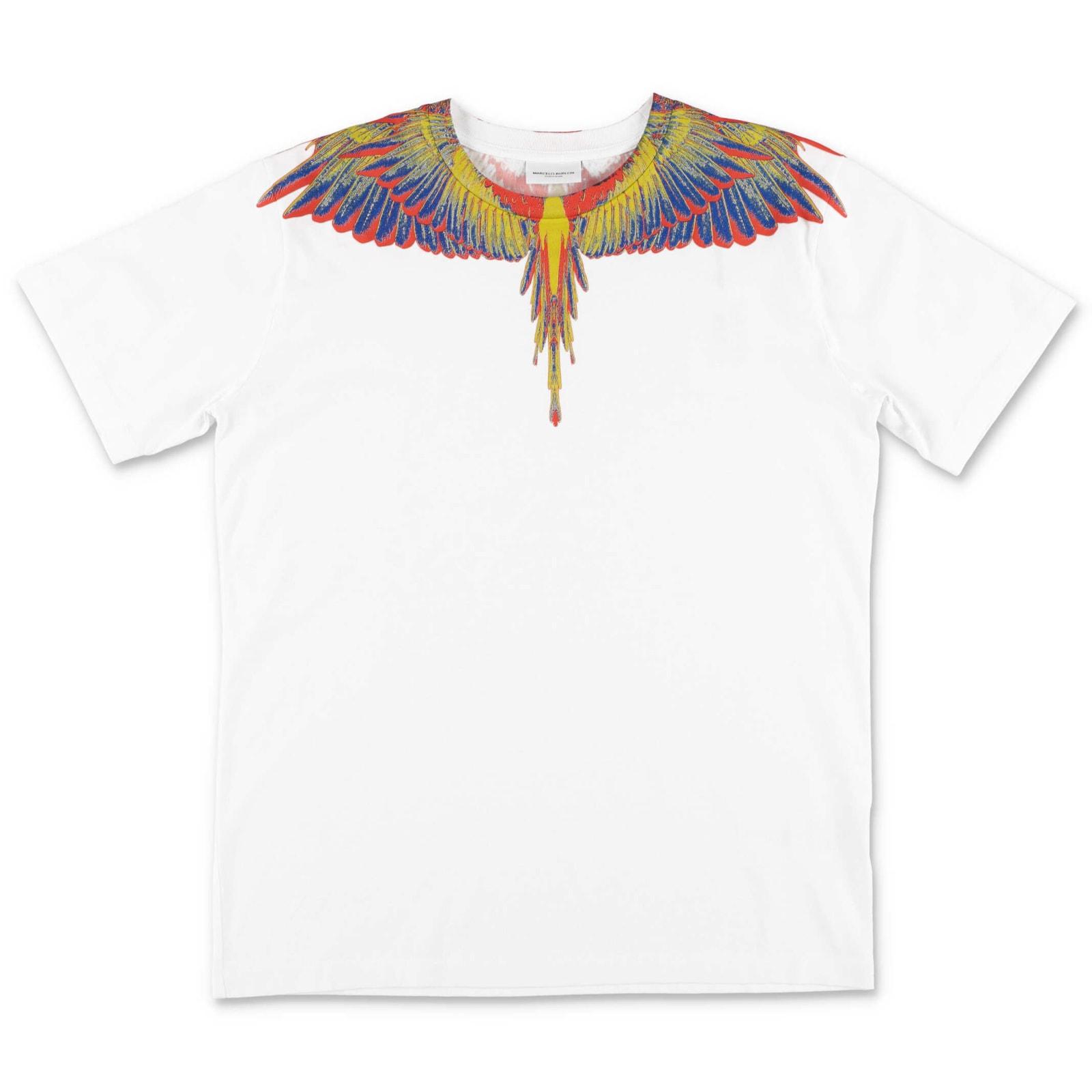 Marcelo Burlon County Of Milan Kids' T-shirt In Bianco