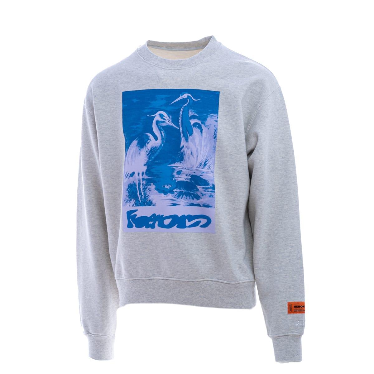 Heron Preston Sweaters HERON PRESTON HERON PRESTON COTTON SWEATSHIRT