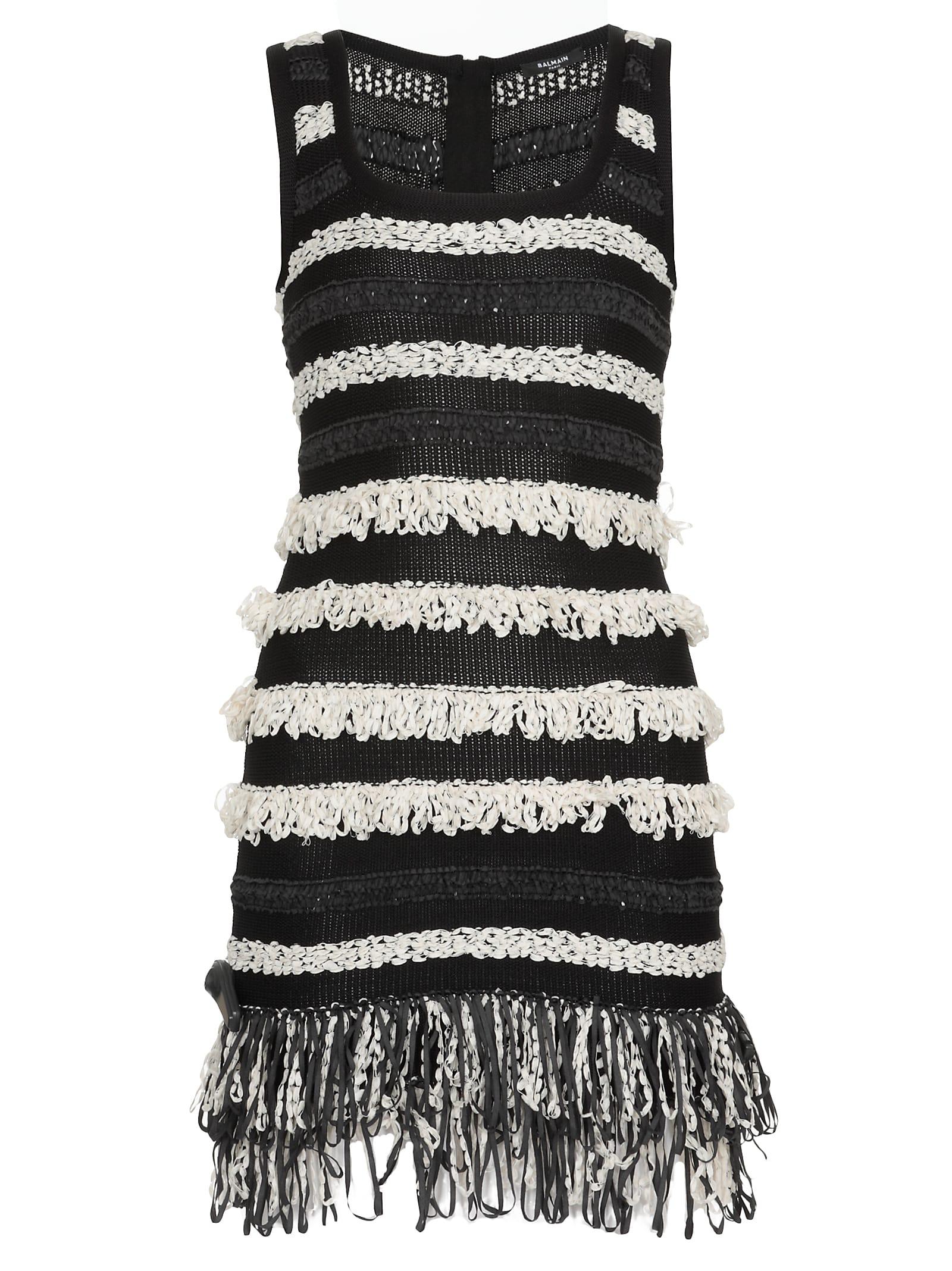 Buy Balmain Mini Knitted Dress online, shop Balmain with free shipping