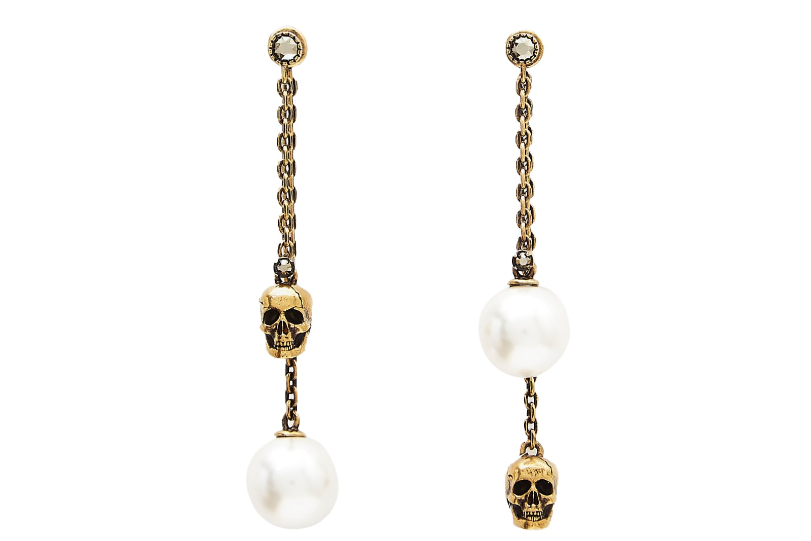 Alexander Mcqueen ALEXANDER MCQUEEN PEARLY SKULL EARRINGS