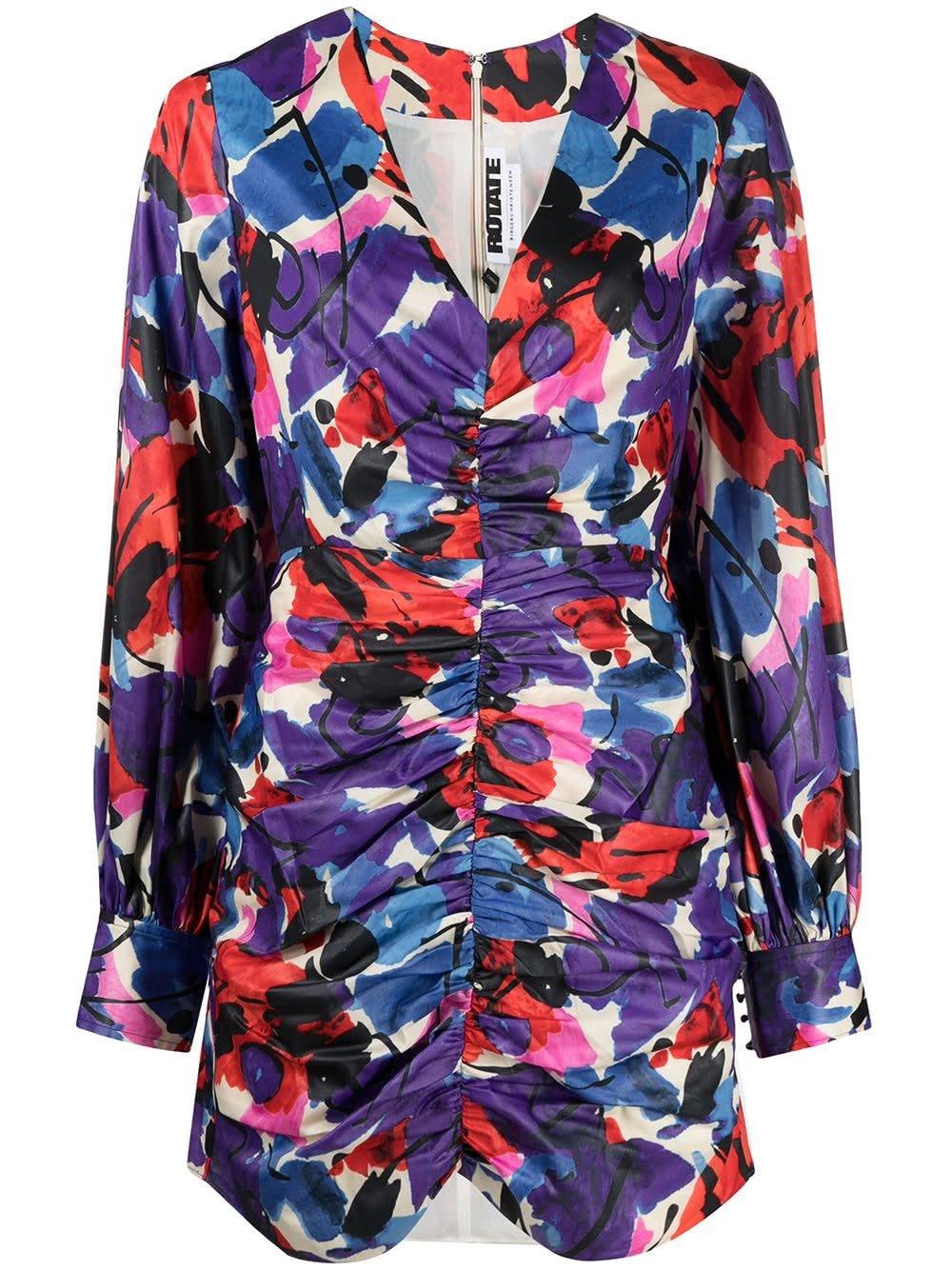 Rotate Birger Christensen DOLLY FLORAL DRESS