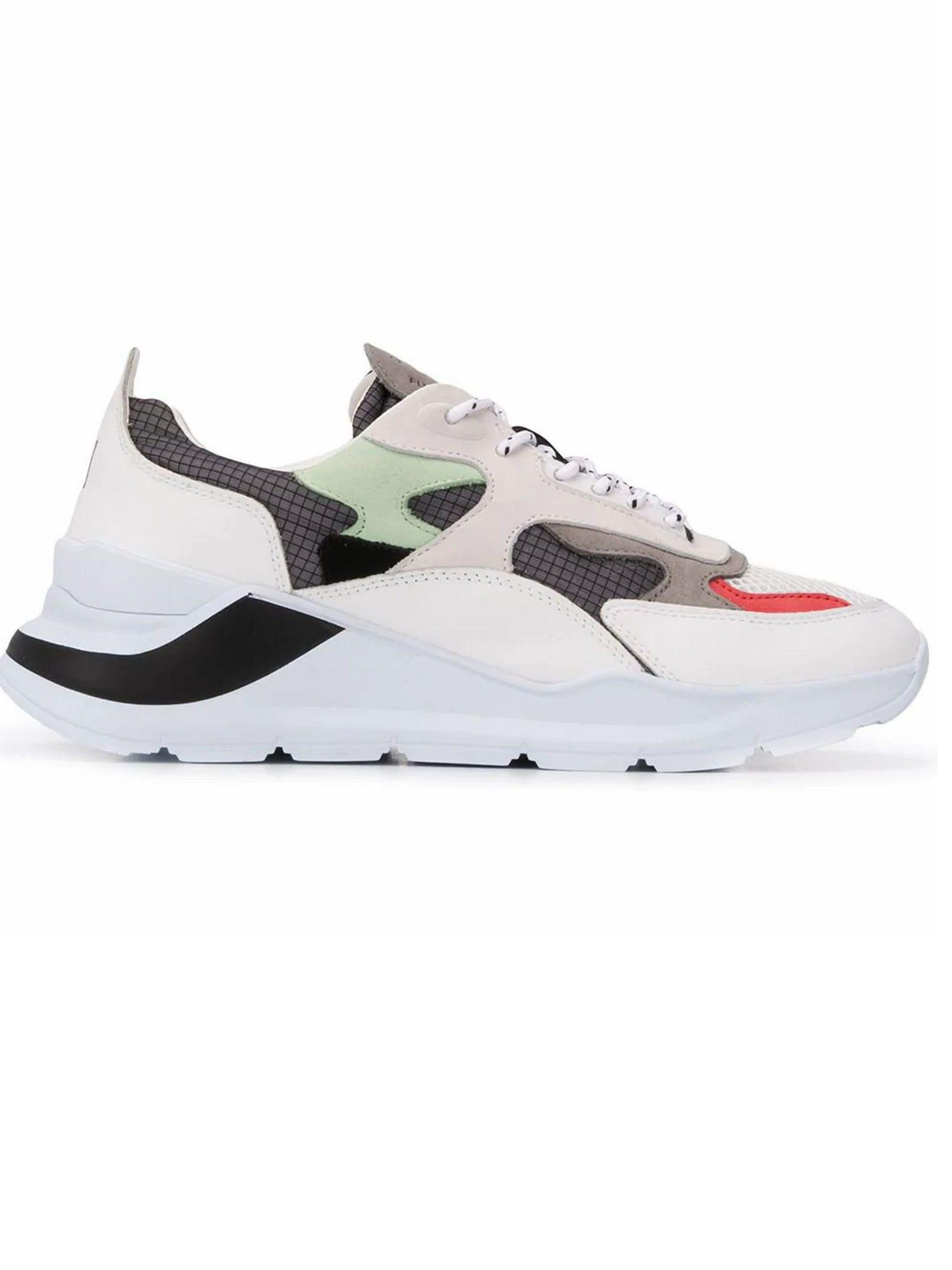 White Leather Fuga Sneakers