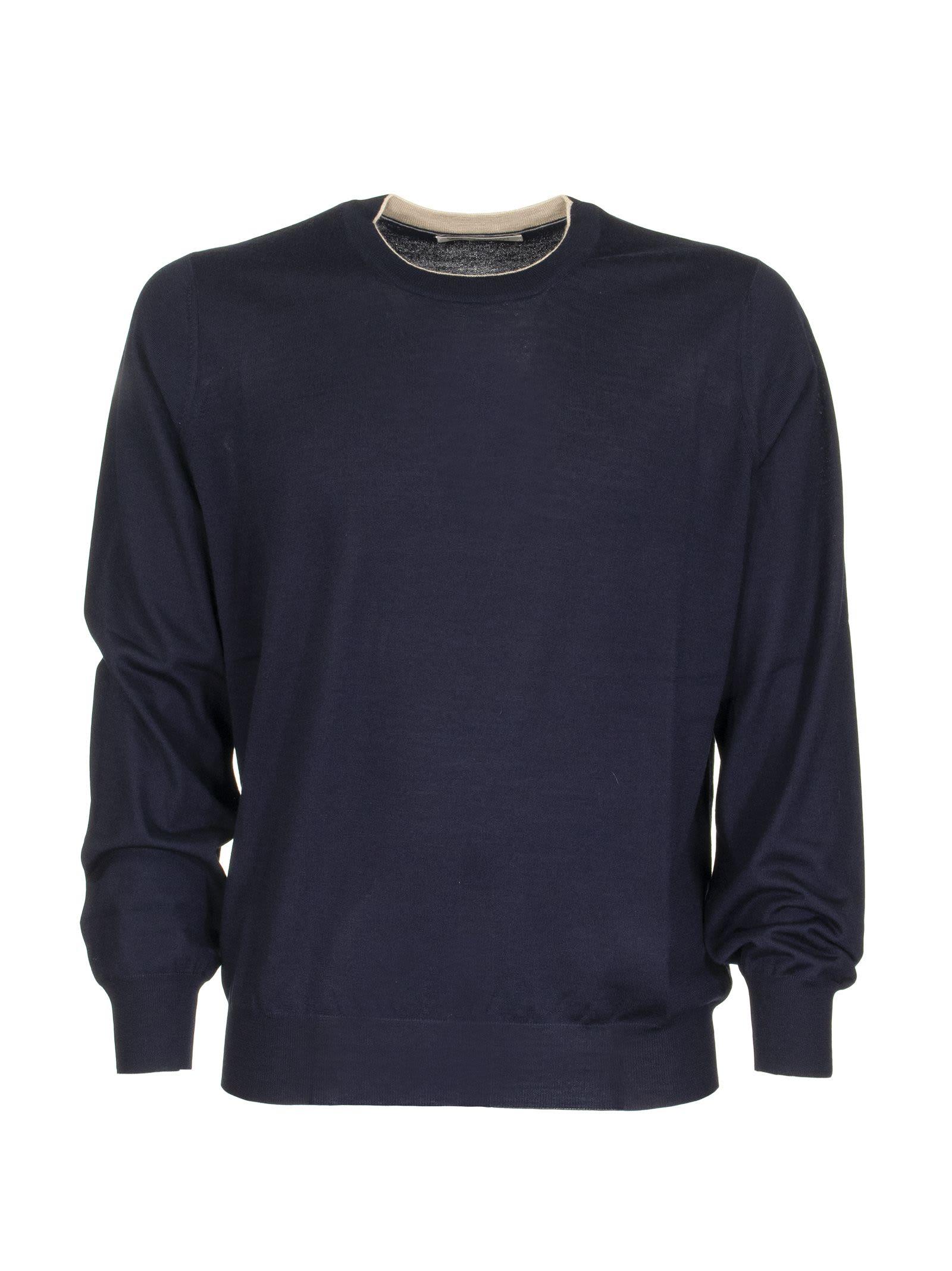 Brunello Cucinelli Crewneck Sweater Blue