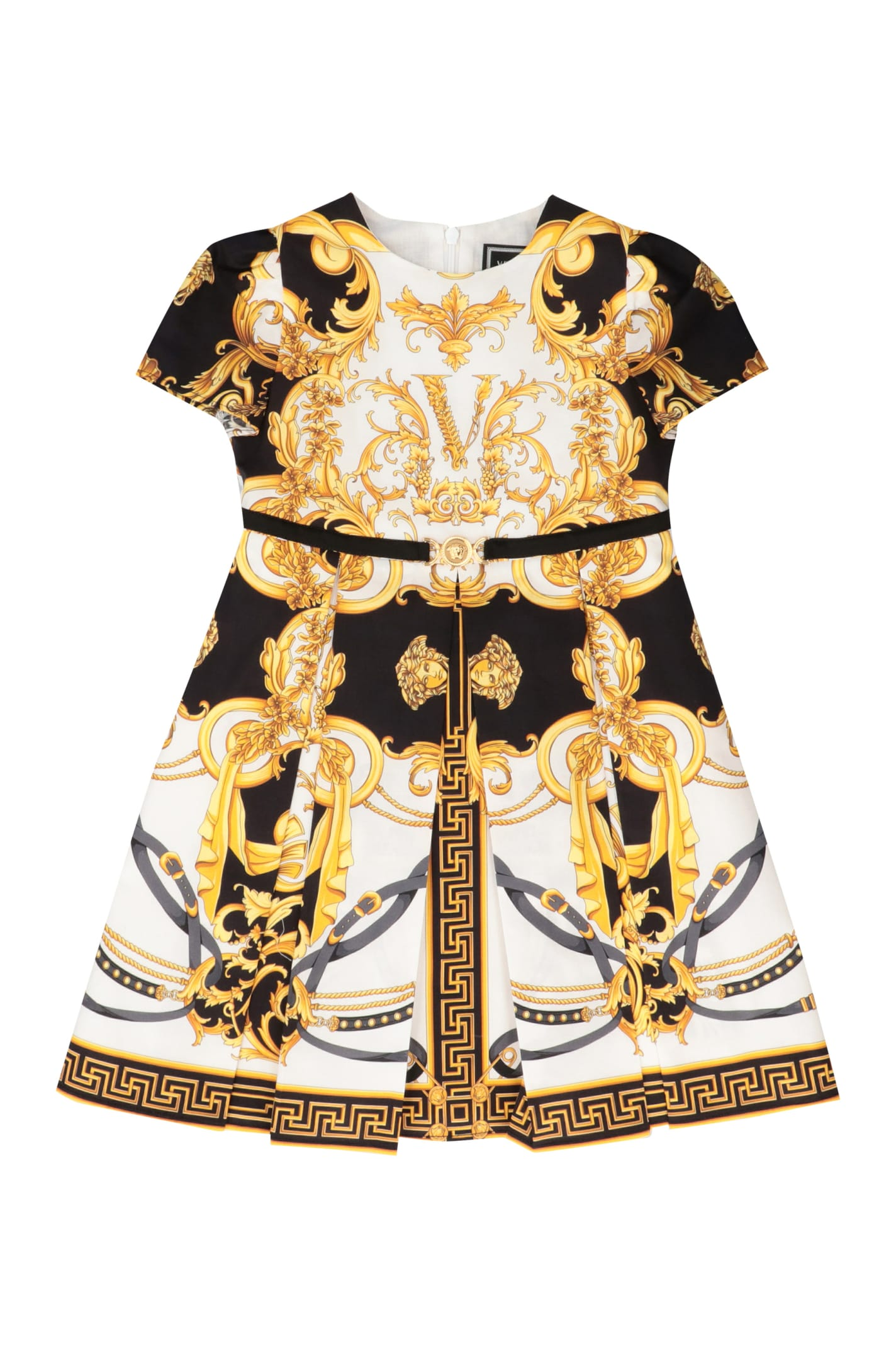 Buy Young Versace Printed Cotton Dress online, shop Young Versace with free shipping