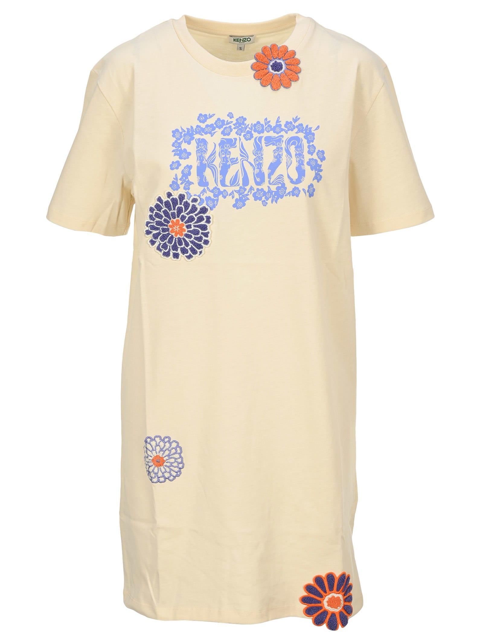 Buy Kenzo flower T-shirt Dress online, shop Kenzo with free shipping
