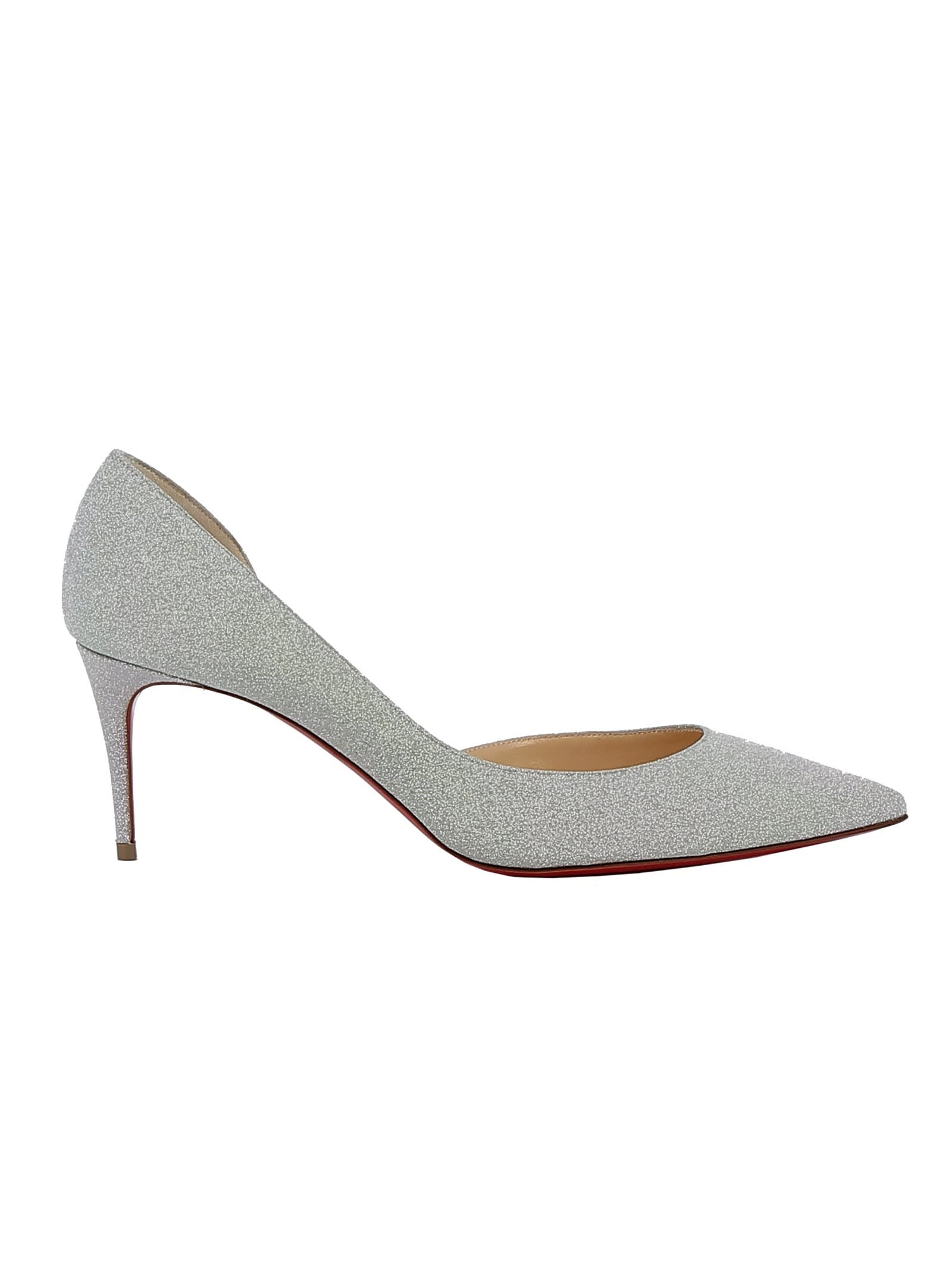 reputable site 11d6f 8be18 Best price on the market at italist | Christian Louboutin Christian  Louboutin White Glitter Pumps