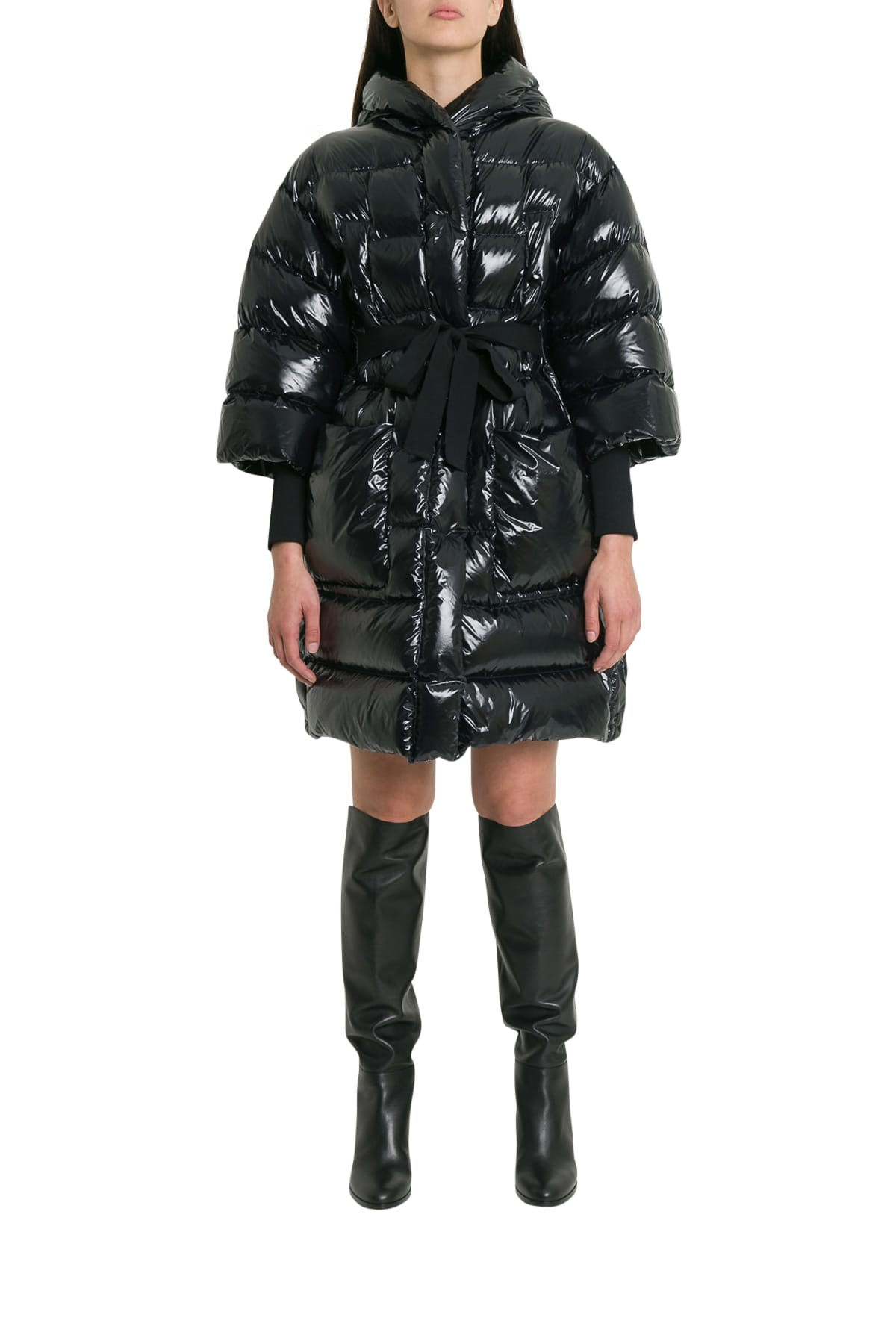 RED Valentino Oversized Down-jacket With Hood And Belt