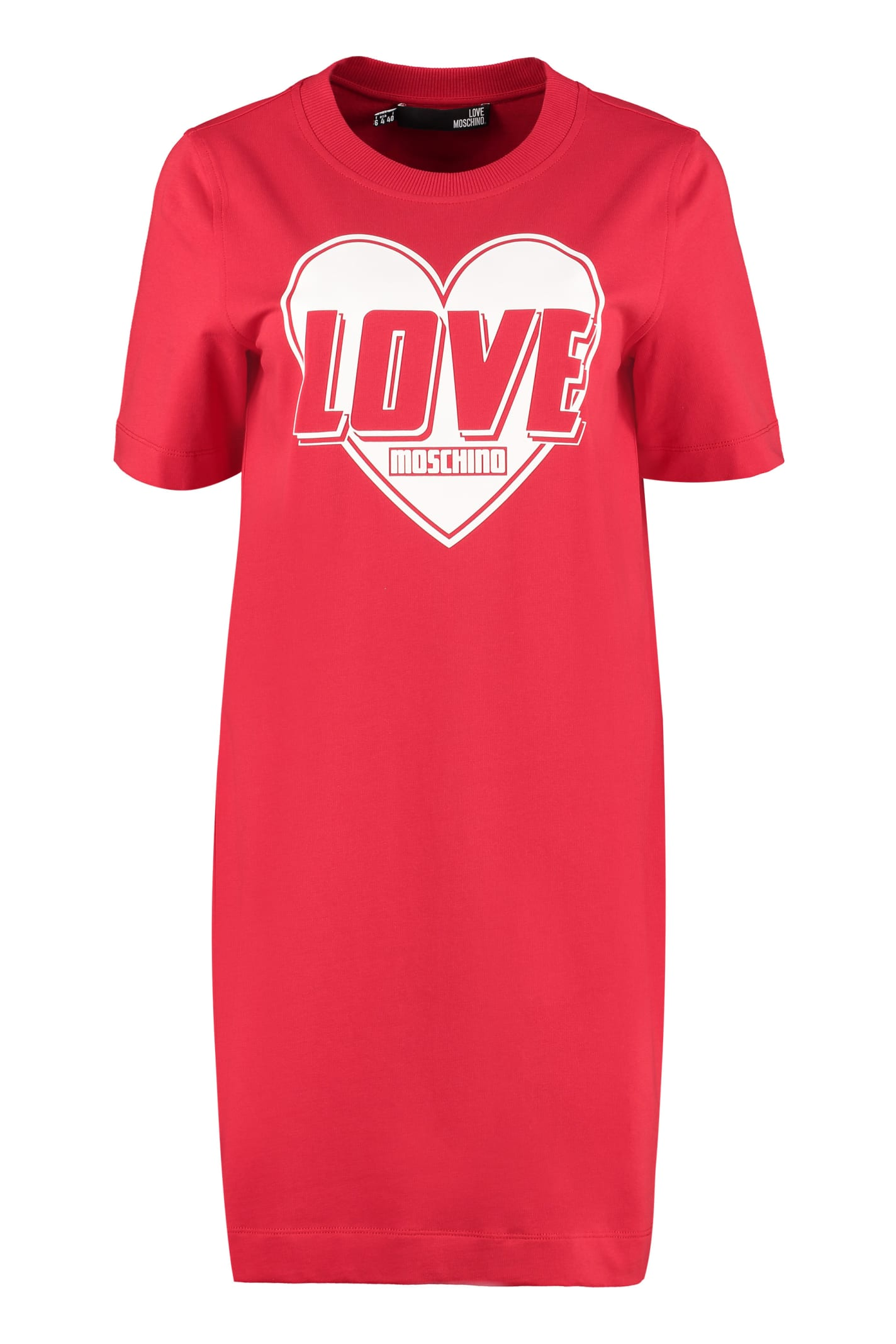 Buy Love Moschino Cotton Mini-dress online, shop Love Moschino with free shipping