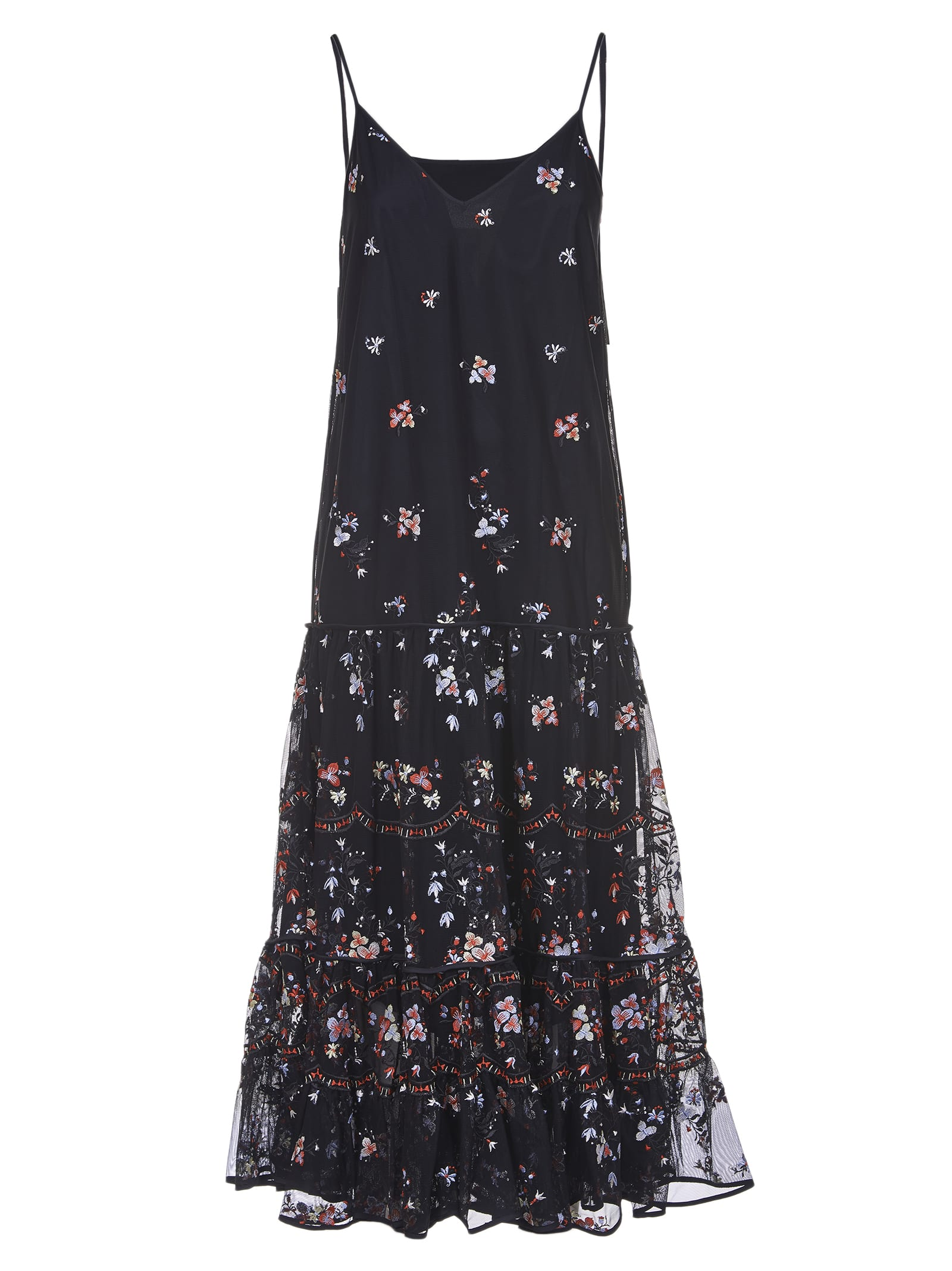 Buy Tory Burch Dress Embroidered Tulle Tory Burch online, shop Tory Burch with free shipping