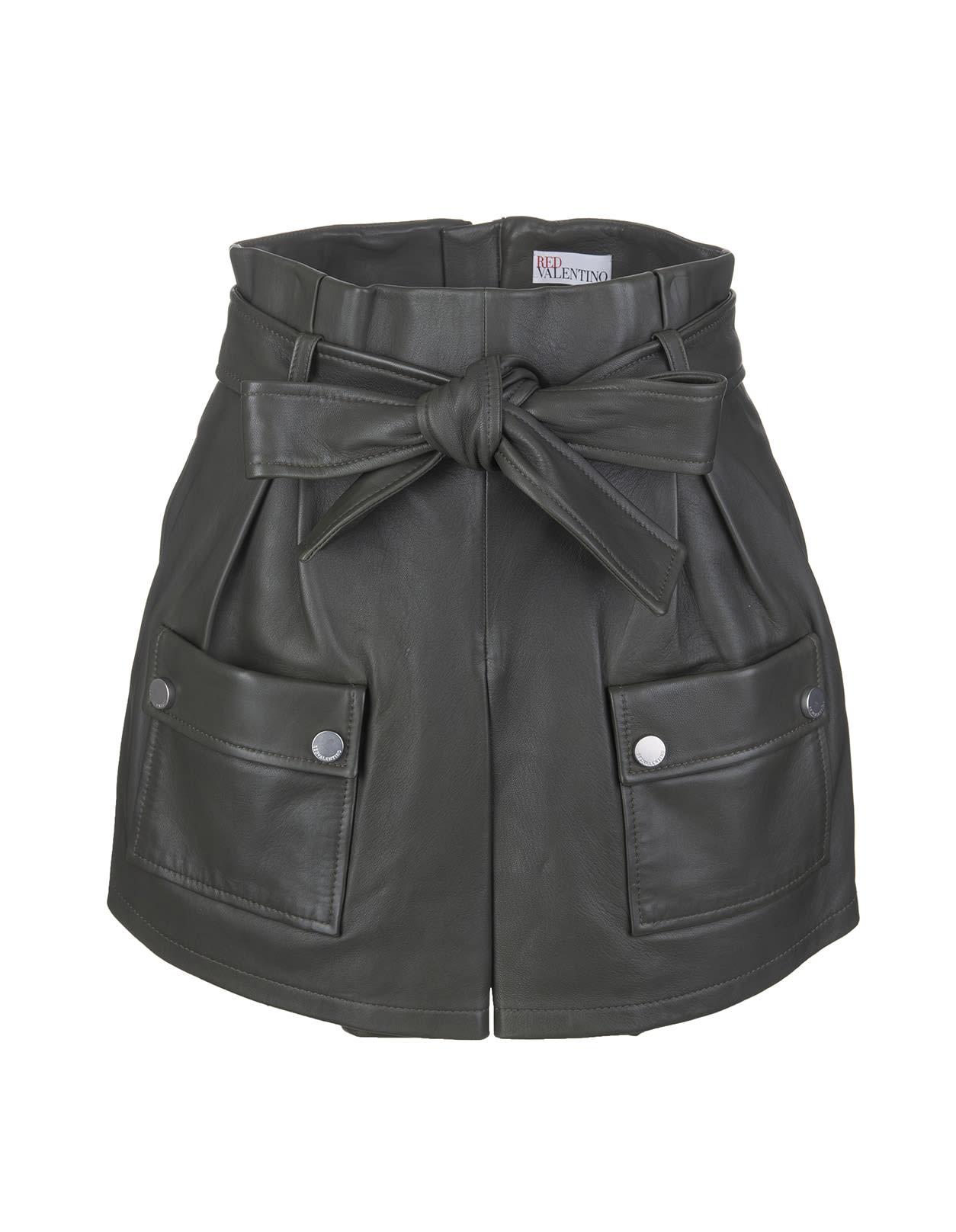 Red Valentino Leathers MILITARY SHORTS