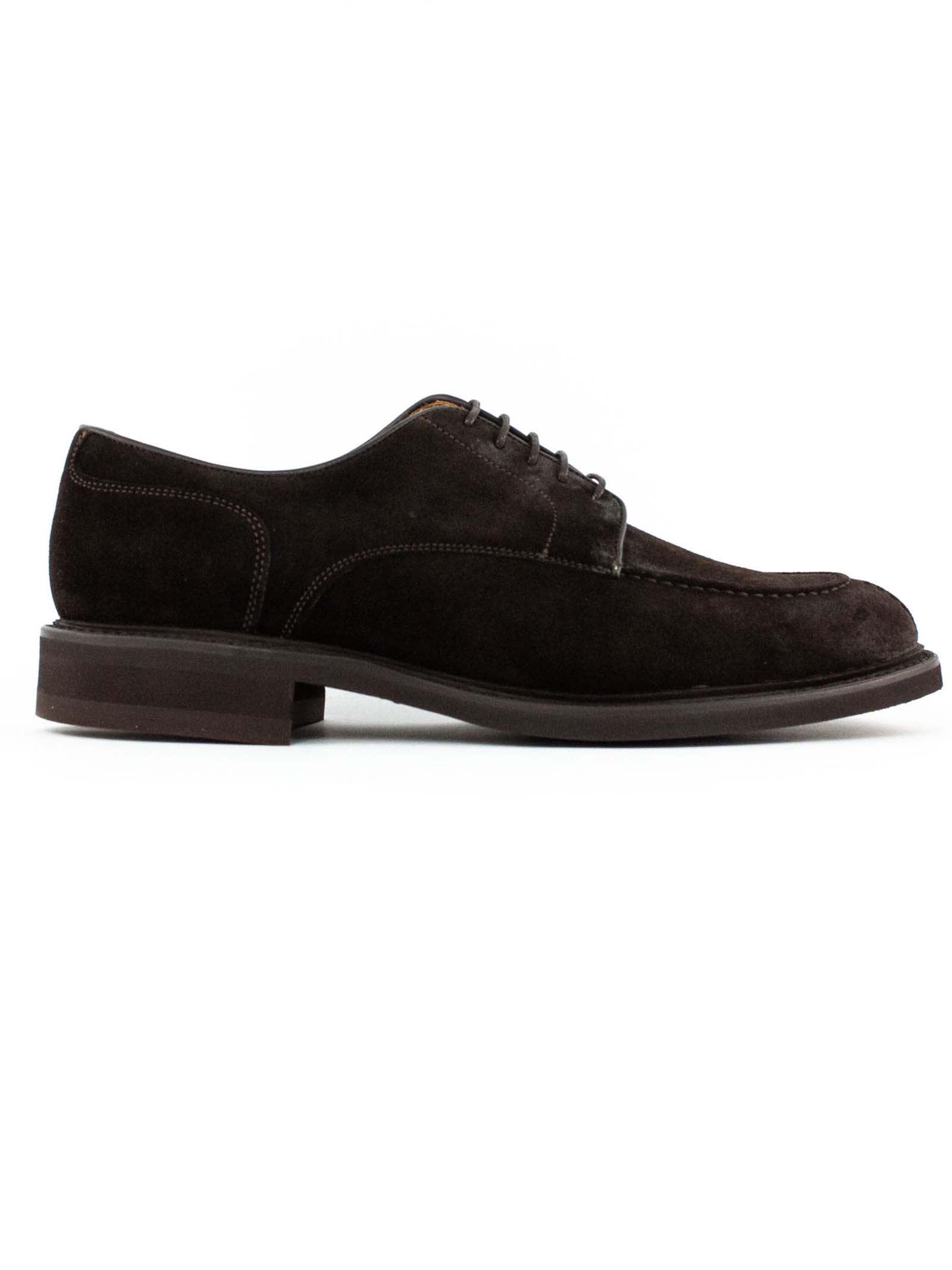 1707 Dark Brown Derby Shoes