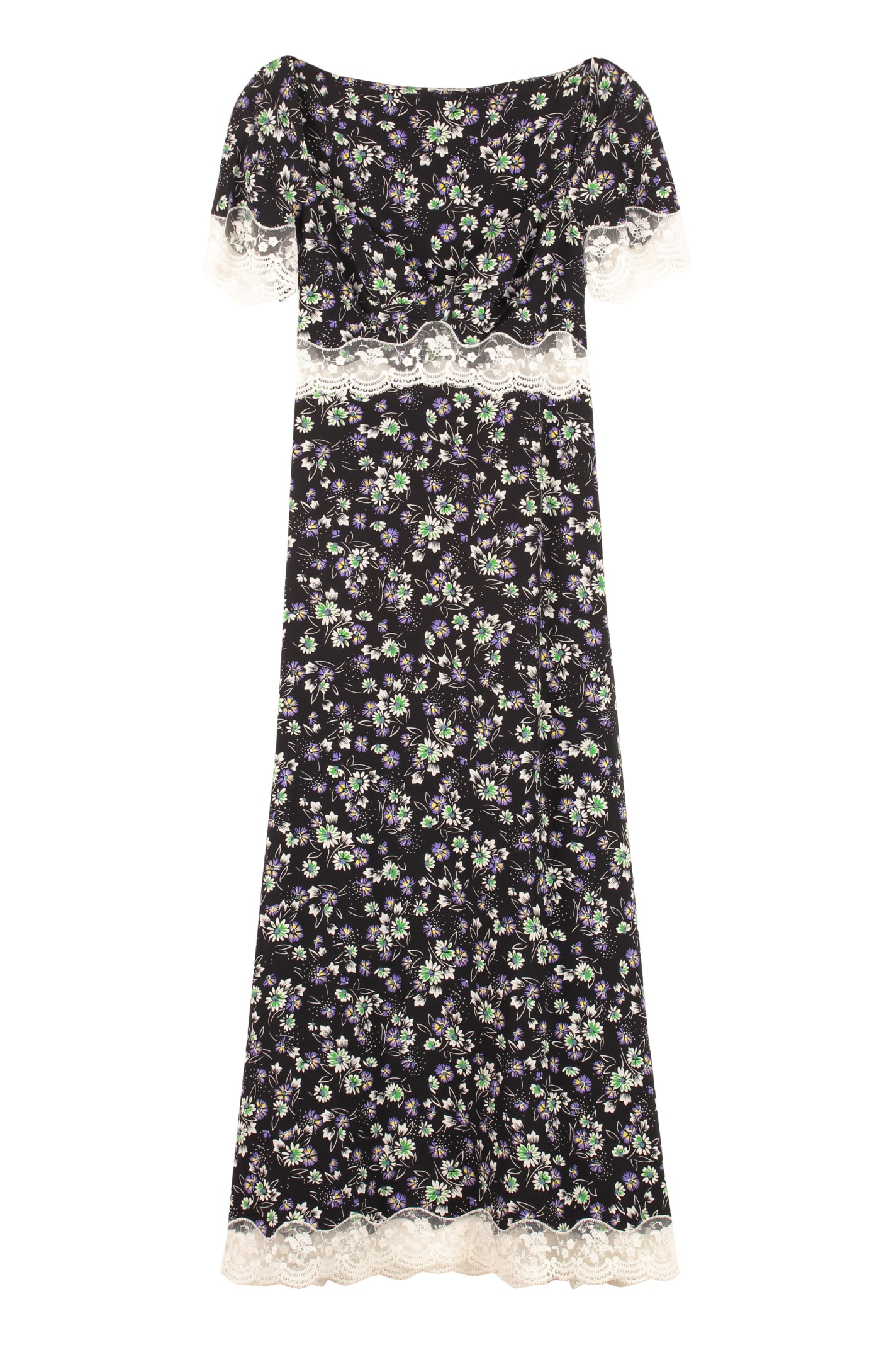 Buy Miu Miu Printed Silk Dress online, shop Miu Miu with free shipping