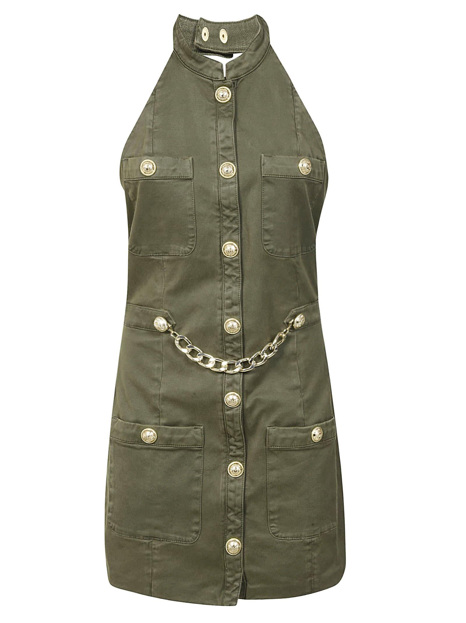 Buy Balmain Embellished Sleeveless Dress online, shop Balmain with free shipping