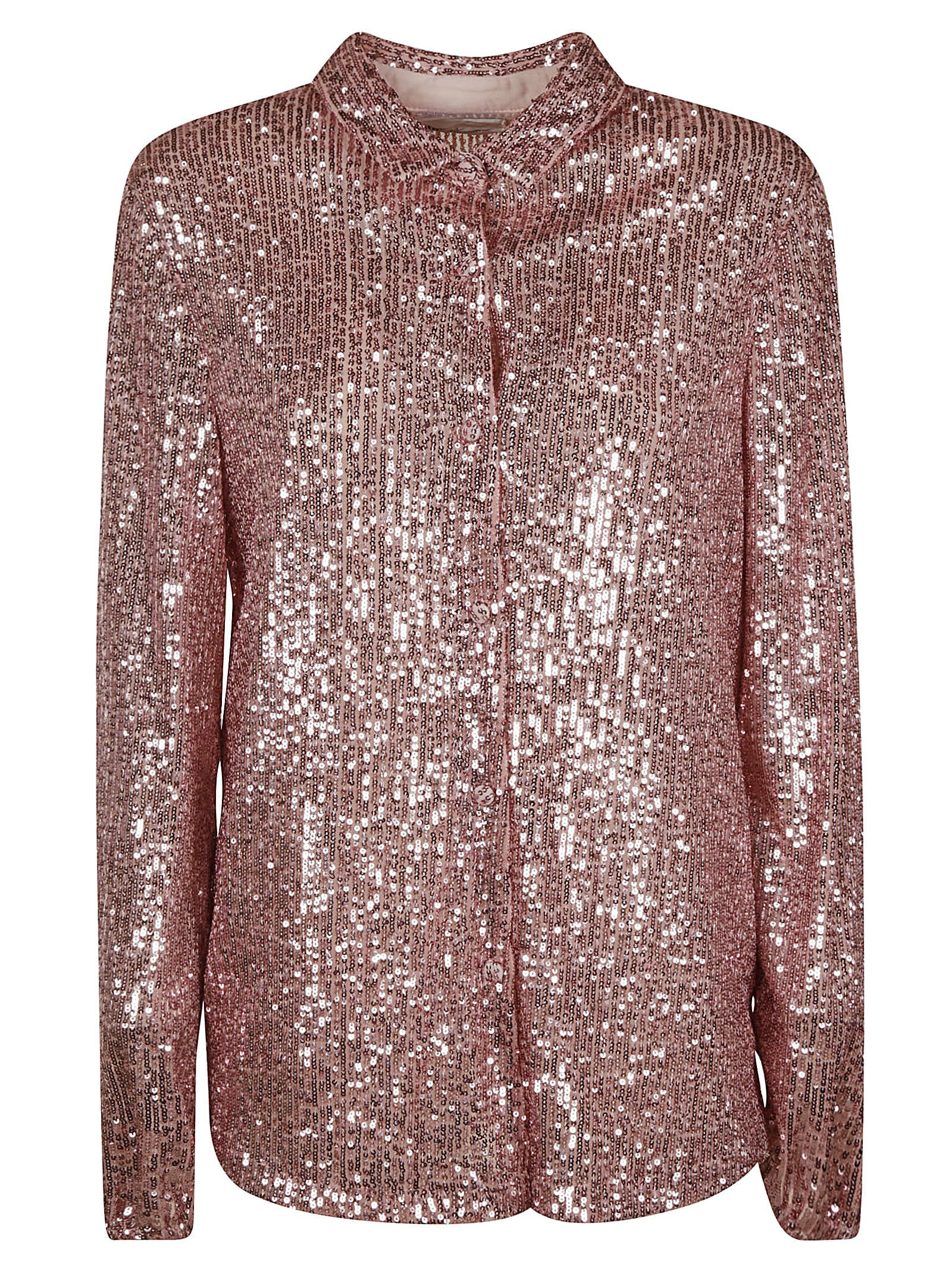 Sequin-coated Shirt