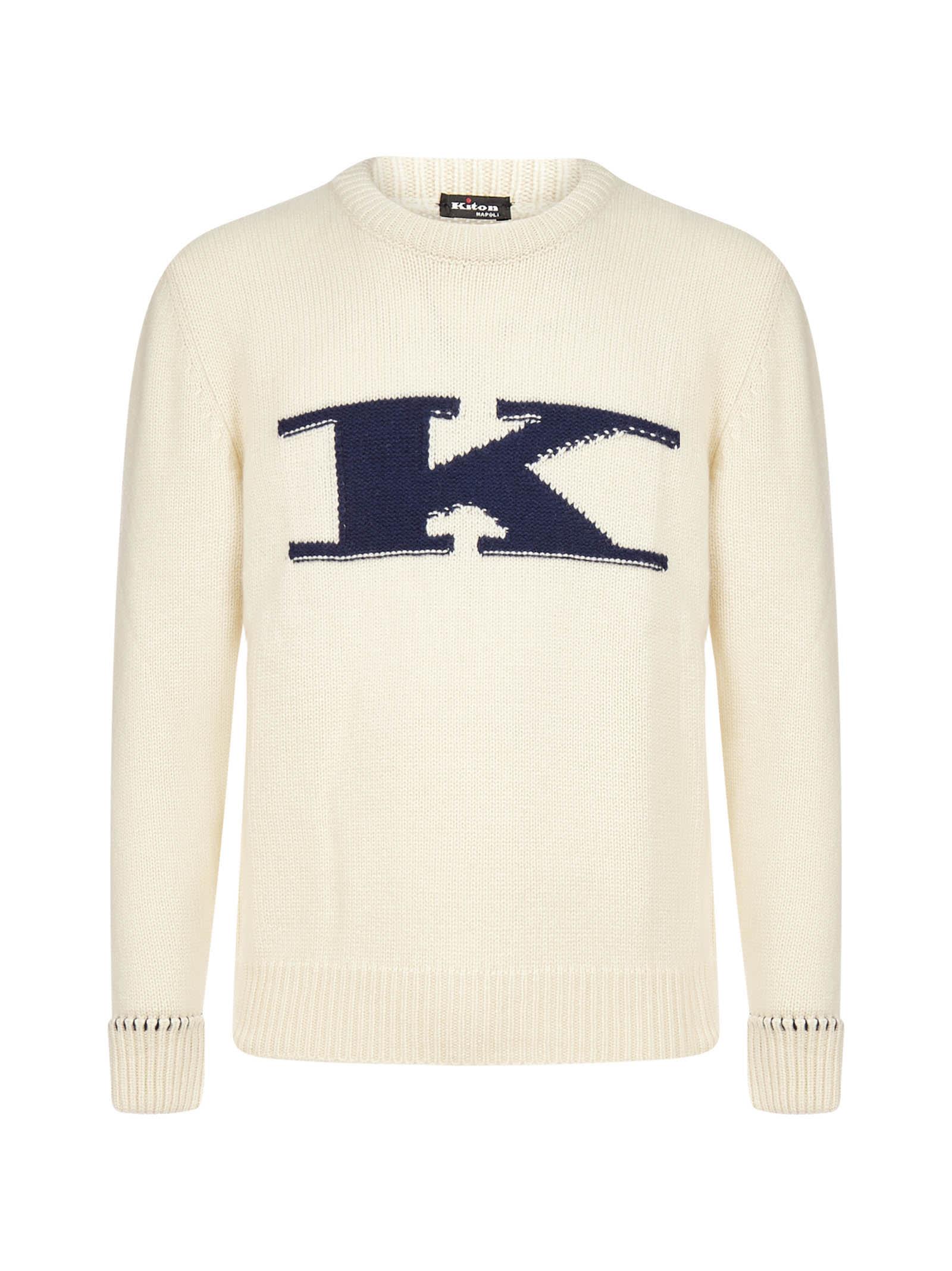 Kiton Logo Cashmere Sweater
