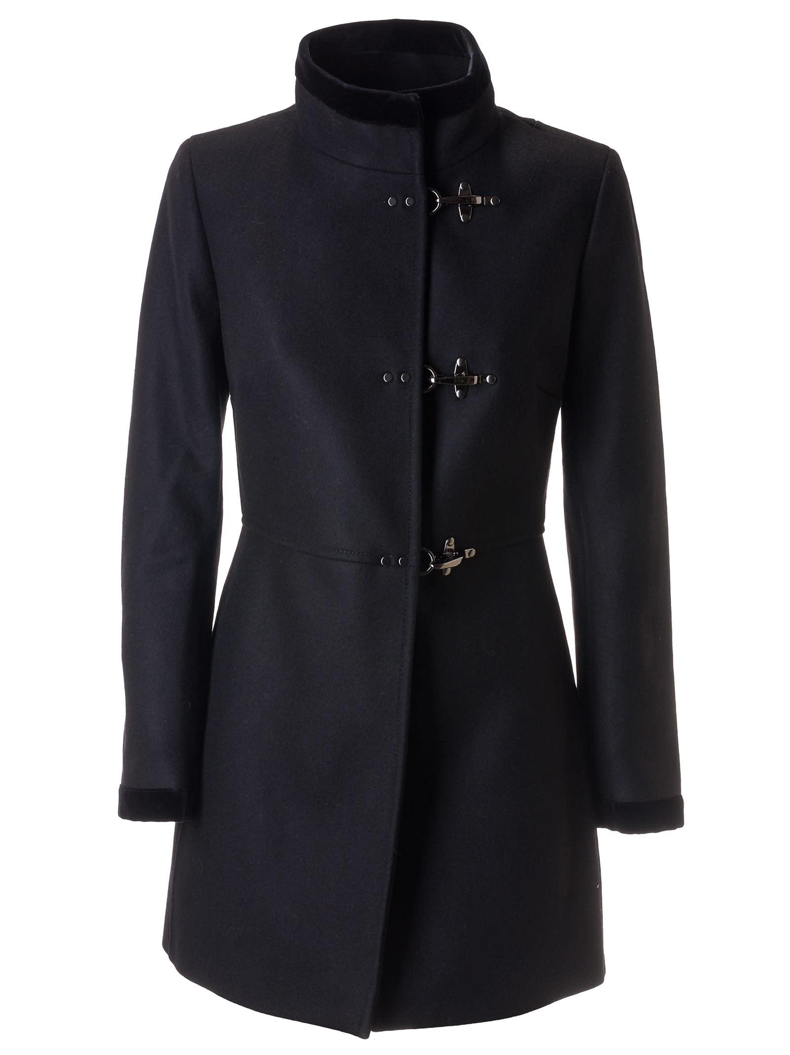 Fay Toggle Lock Stand-up Collar Coat