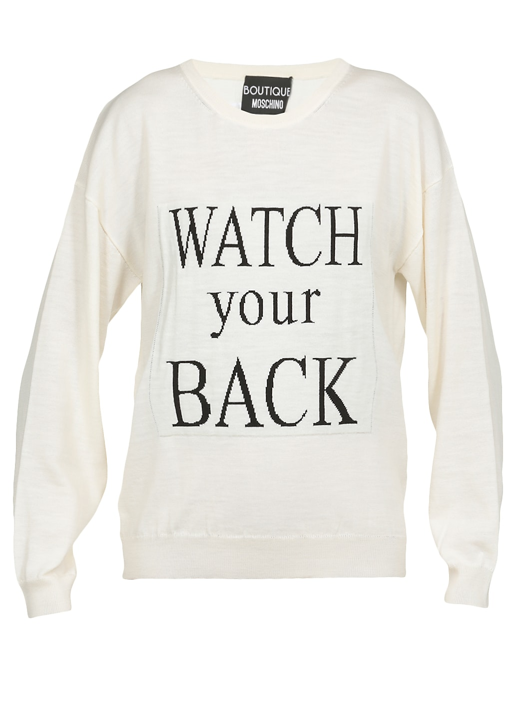 Boutique Moschino Sweater With Embroidery