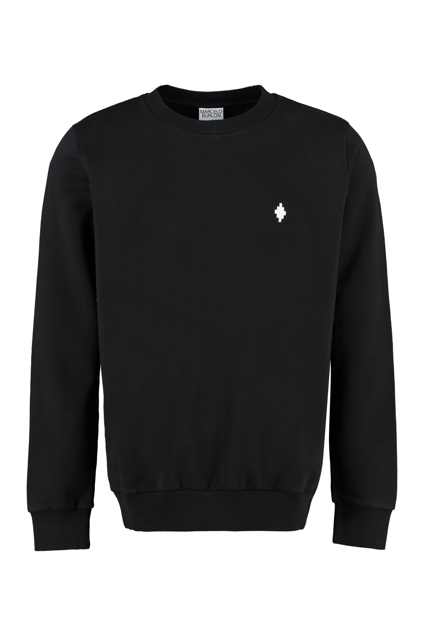 Marcelo Burlon County Of Milan Cotton Crew-neck Sweatshirt In Black
