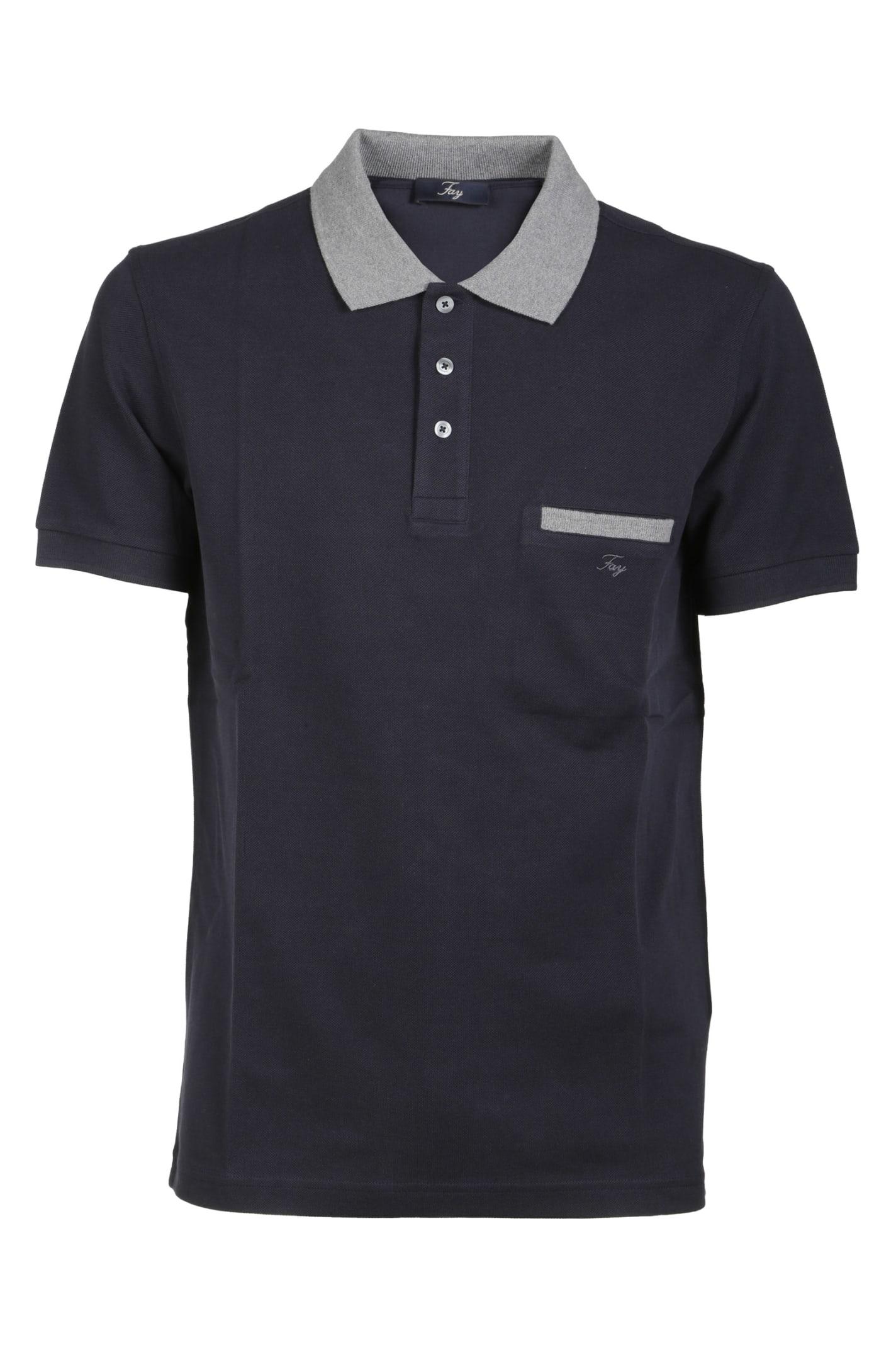 Fay Side Pocket Polo Shirt
