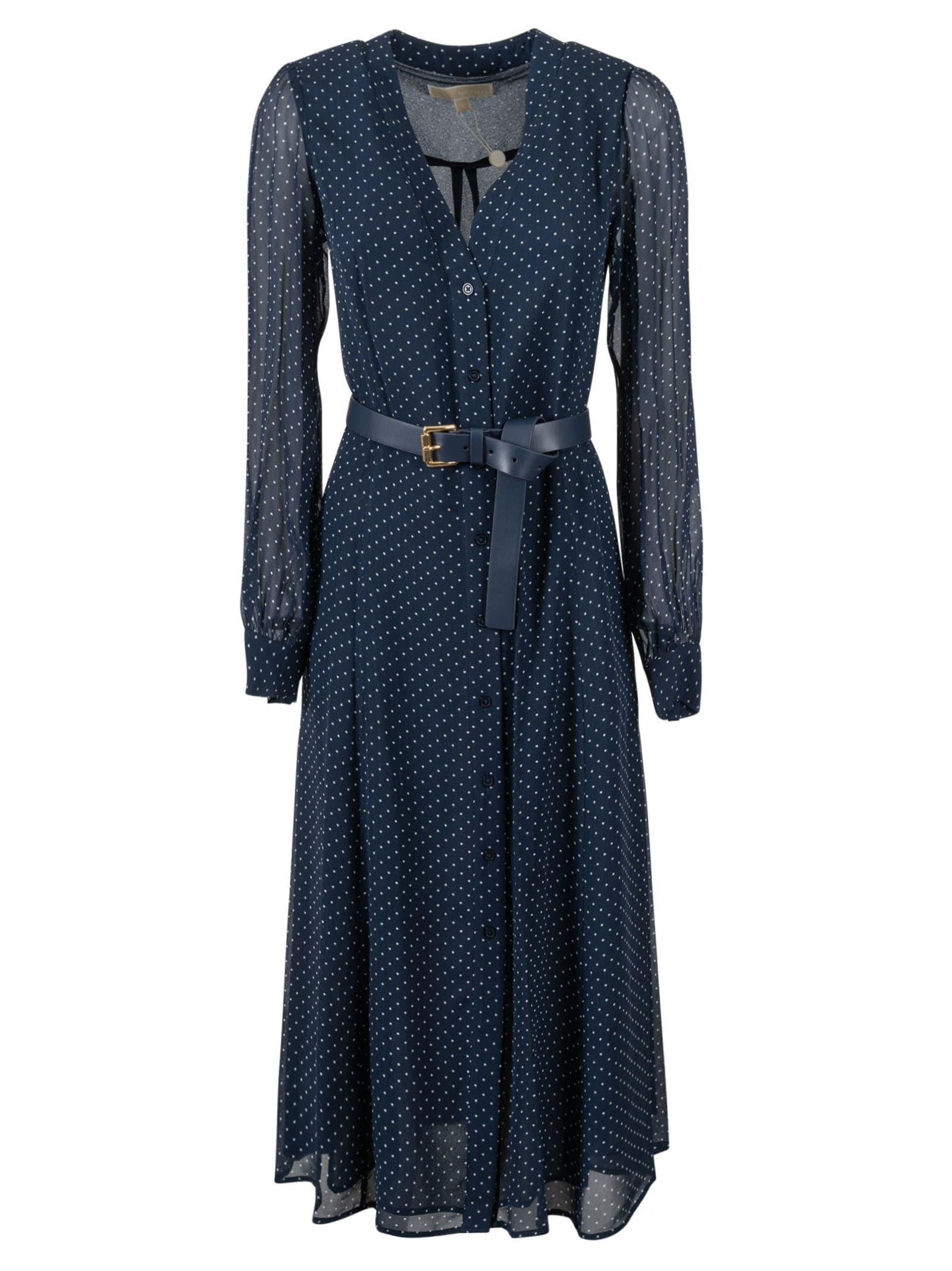 Michael Michael Kors Clothing POLKA DOT LACE SLEEVED DRESS