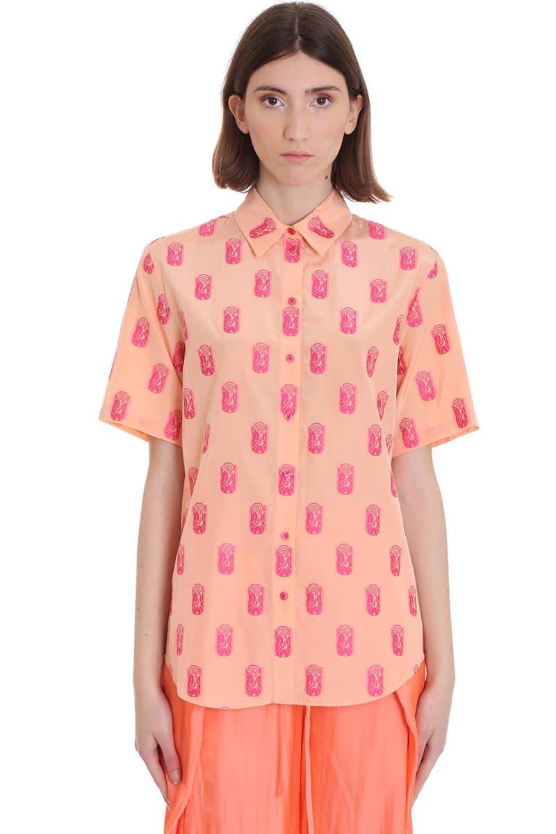 Kenzo Shirt In Rose-pink Viscose