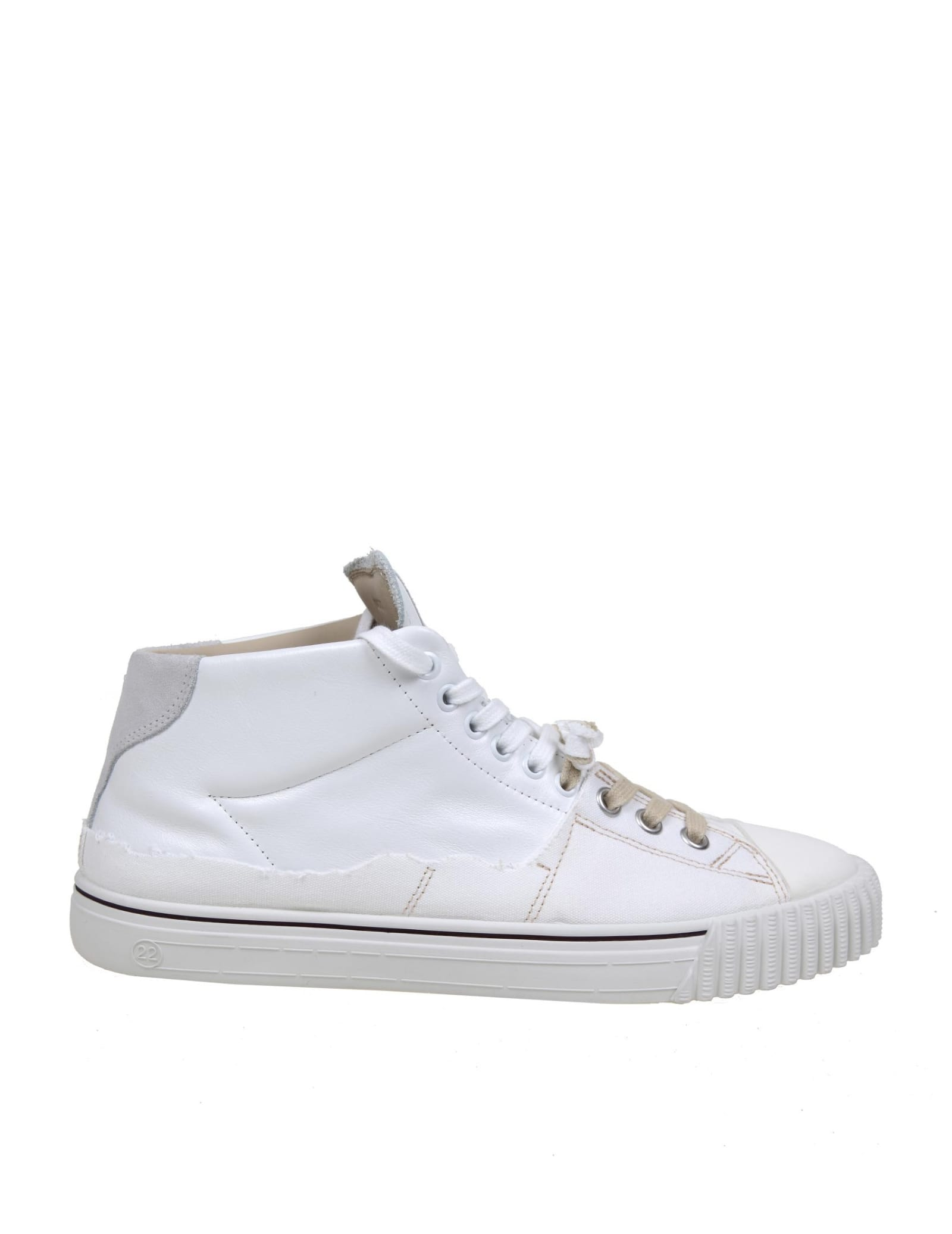 Maison Margiela EVOLUTION SNEAKERS IN LEATHER AND CANVAS