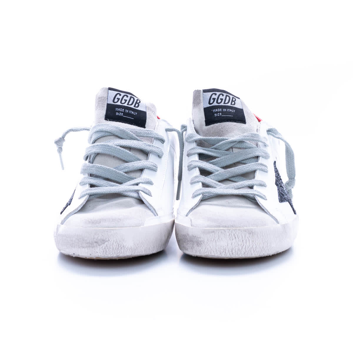 Golden Goose Superstar Classic With List Sneaker In Ice - White - Black - Red