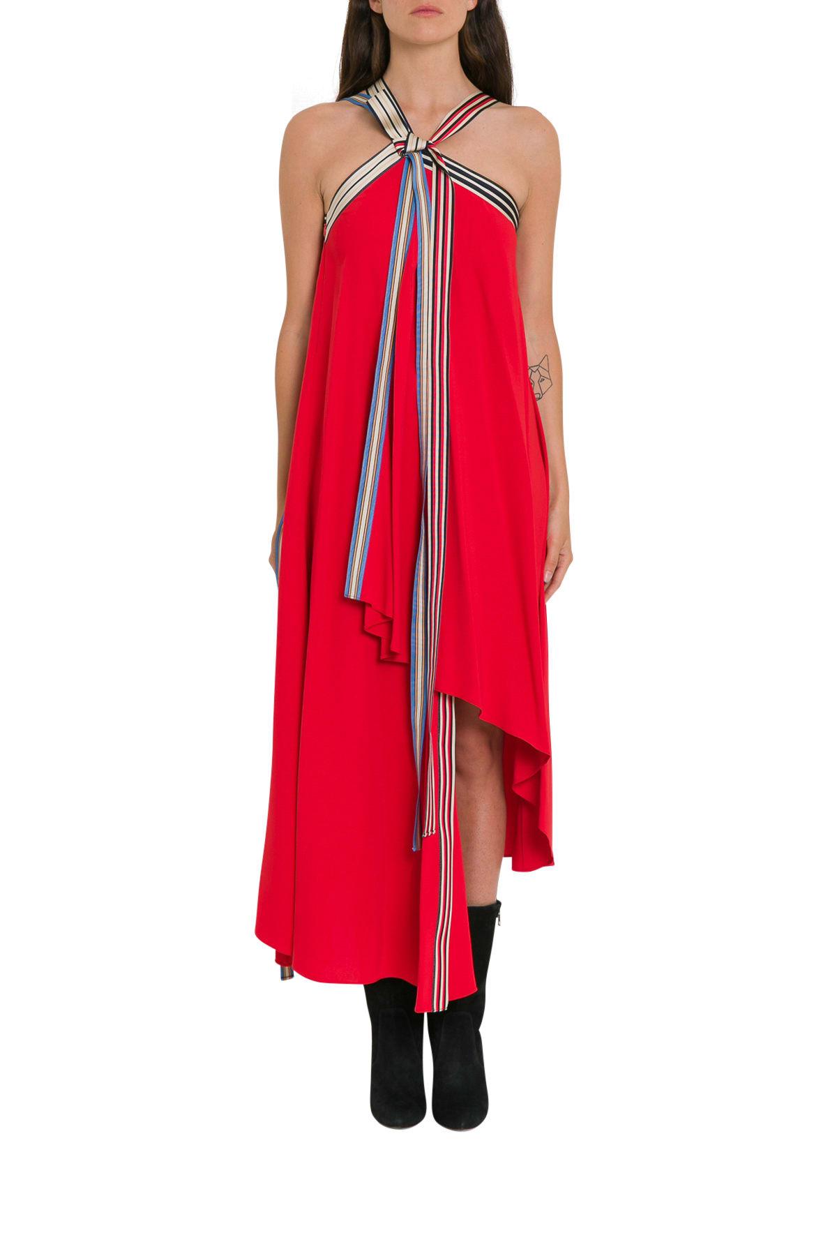 MONSE Grosgrain Tie Midi Dress