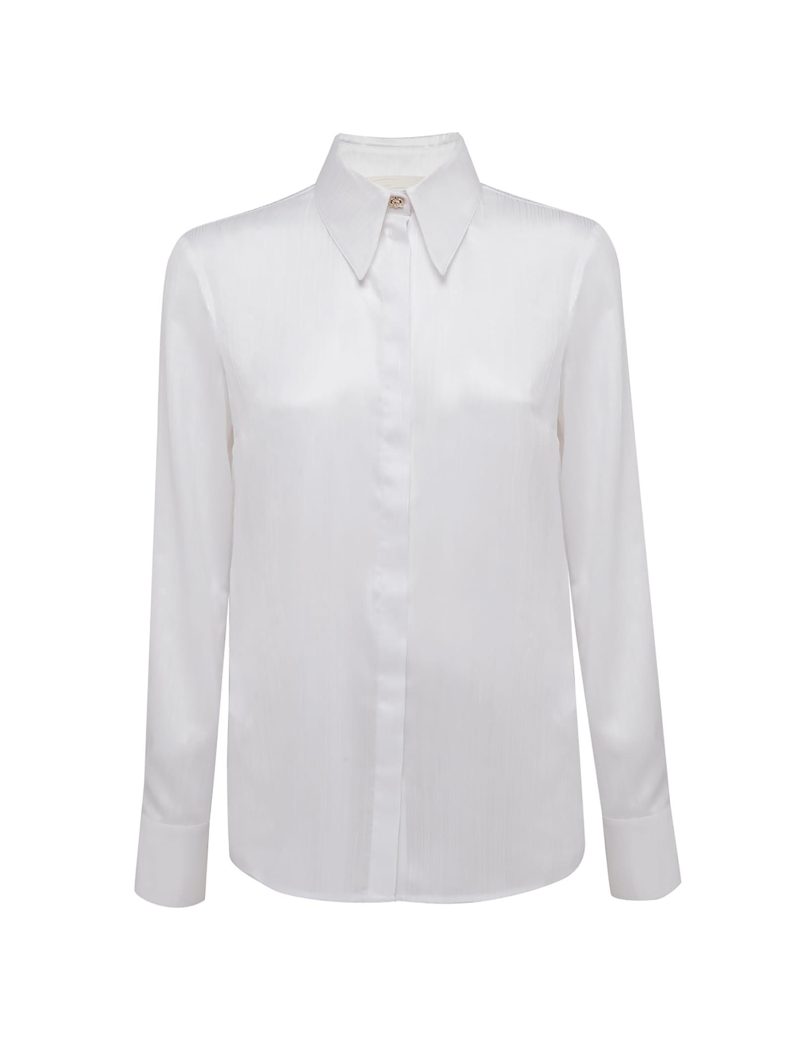White Orchid-embellished Shirt