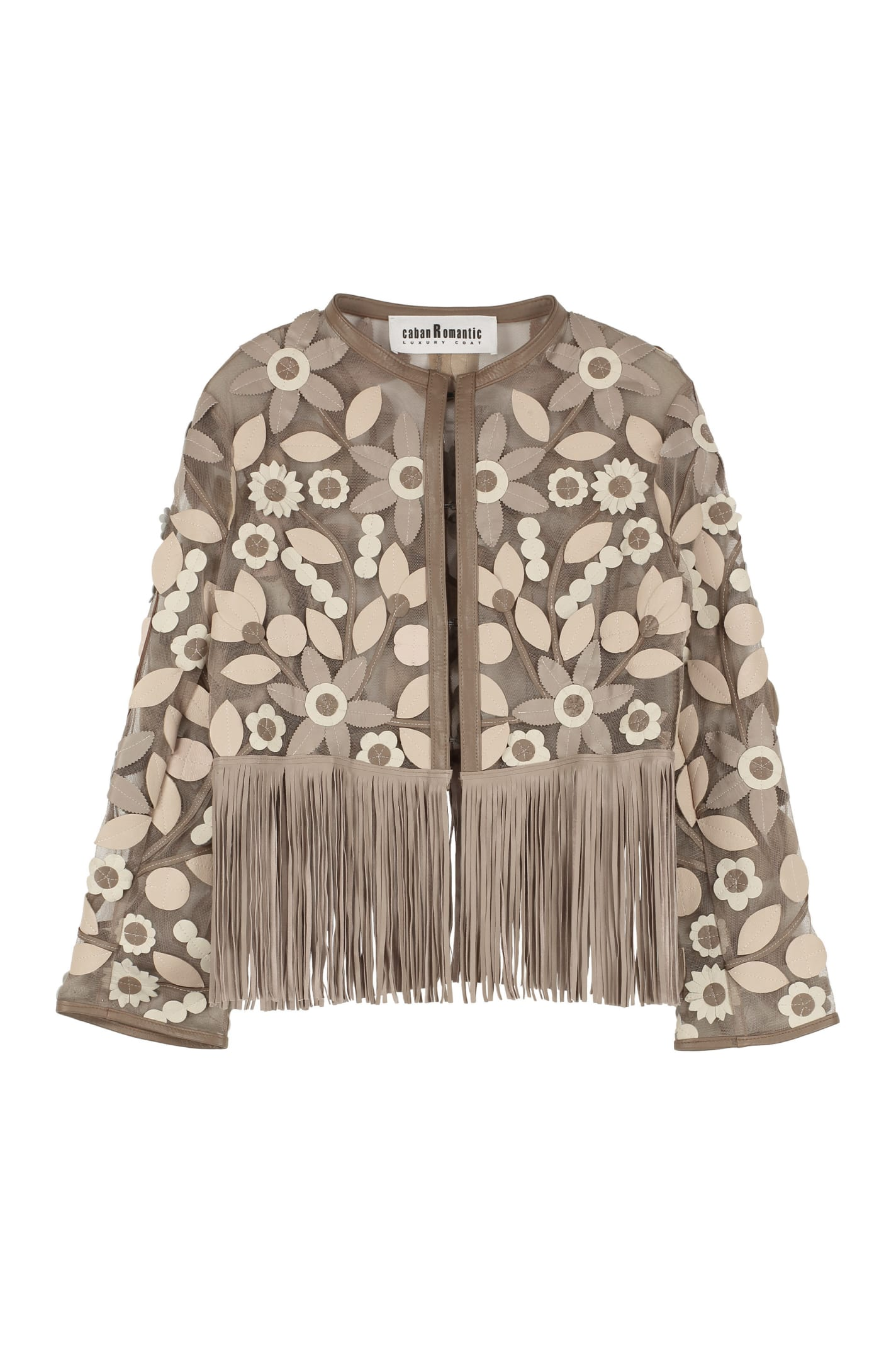 Caban Romantic Leather Fringed Jacket