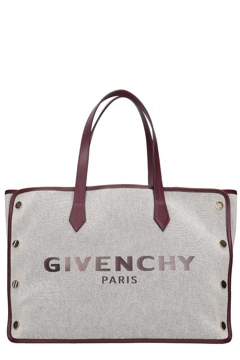 Givenchy Bond Medium Tote In Beige Cotton