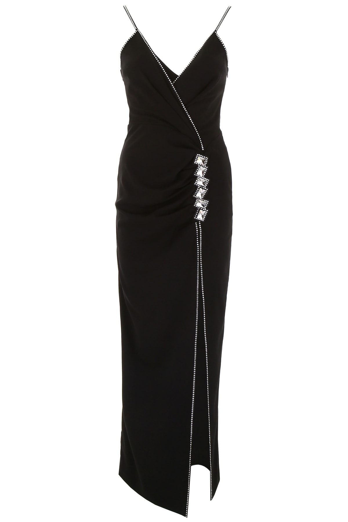 Alessandra Rich Long Dress With Crystals