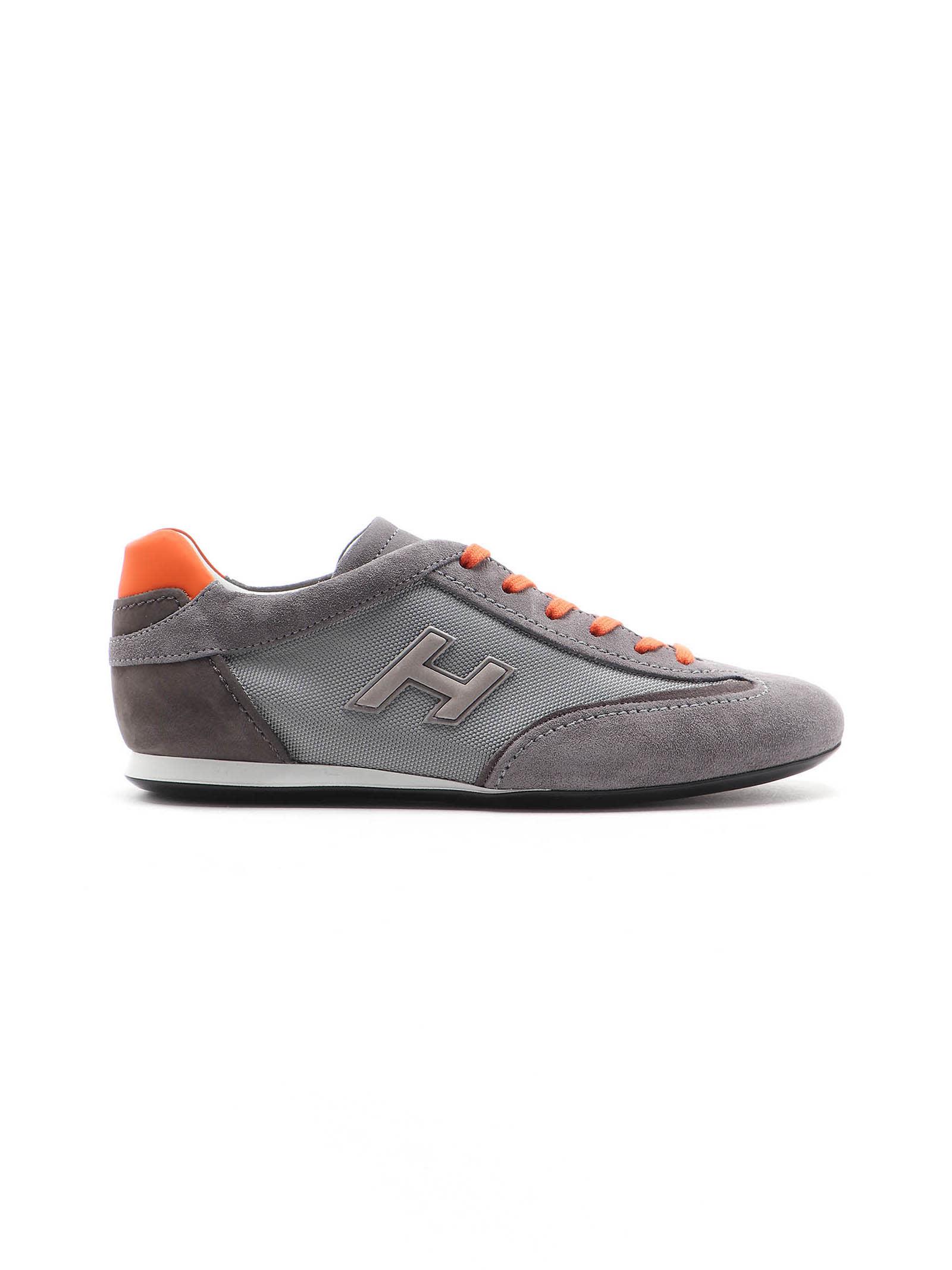 Shop Hogan Olympia H Flock Sneaker In X Fumo Ch fumo mattone
