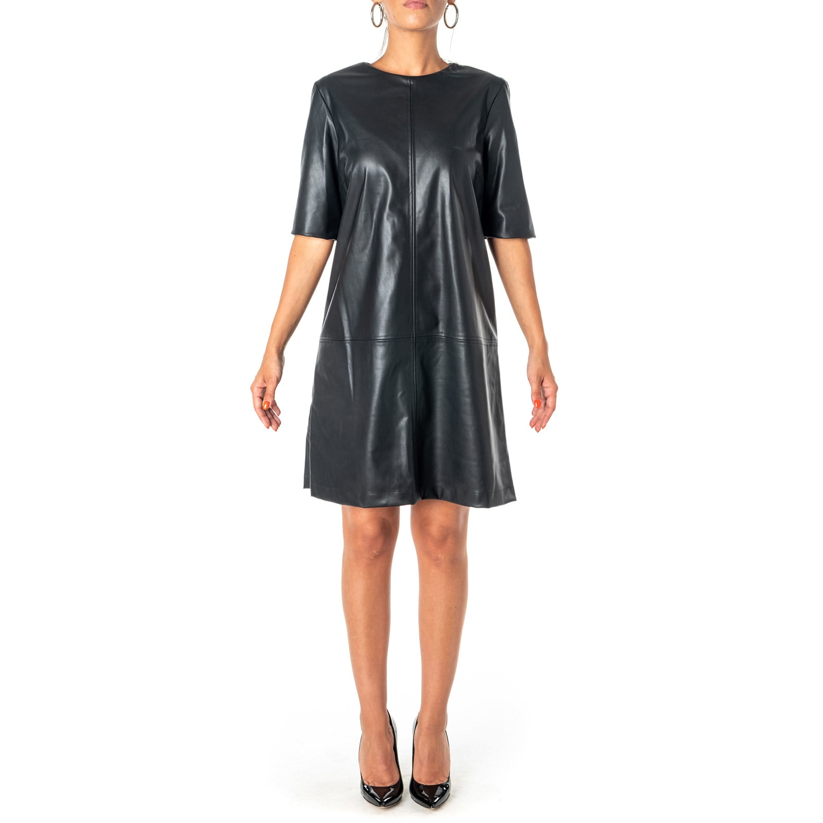 Be Blumarine Faux Leather Dress