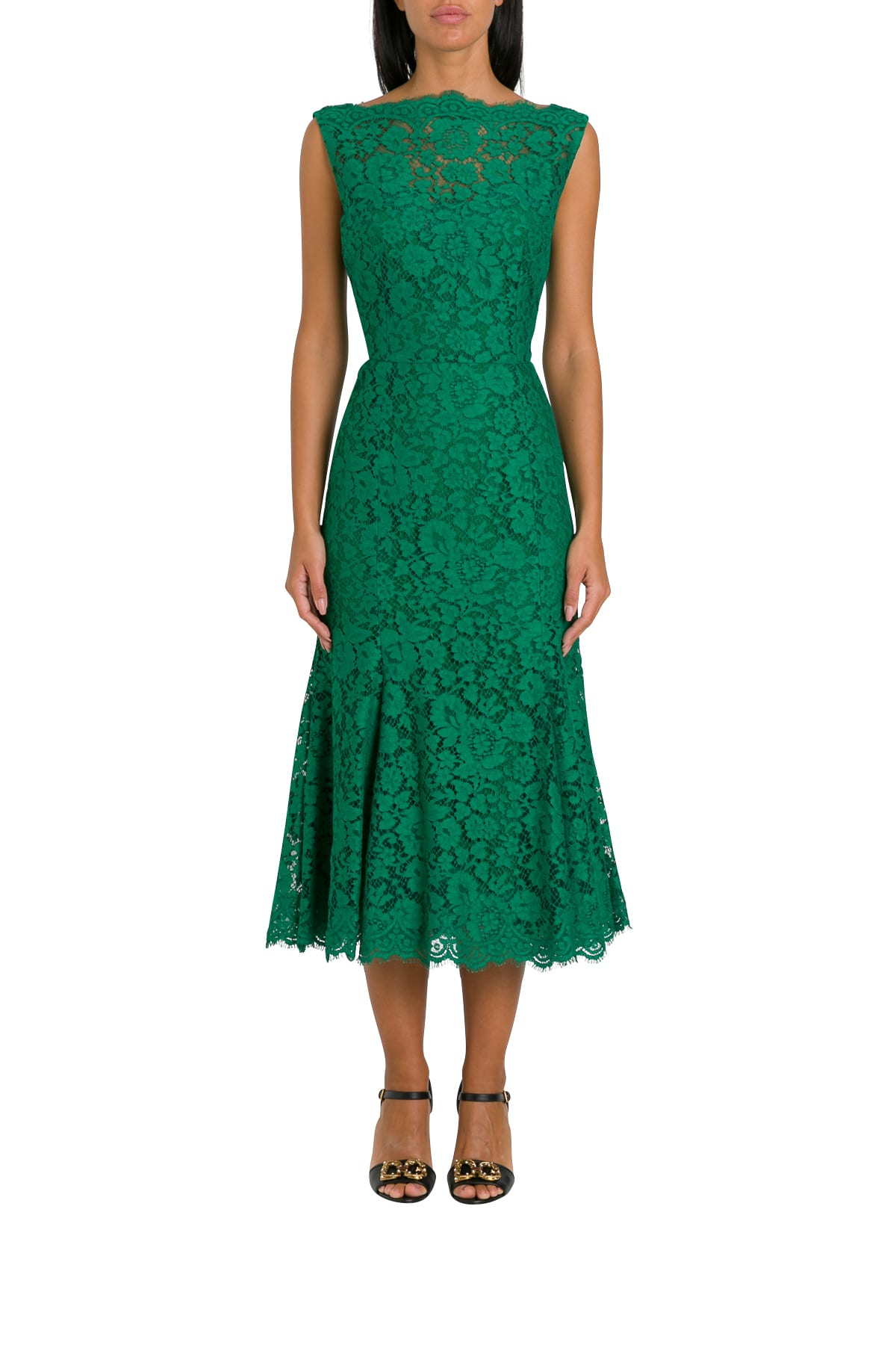 Buy Dolce & Gabbana Lace Dress online, shop Dolce & Gabbana with free shipping