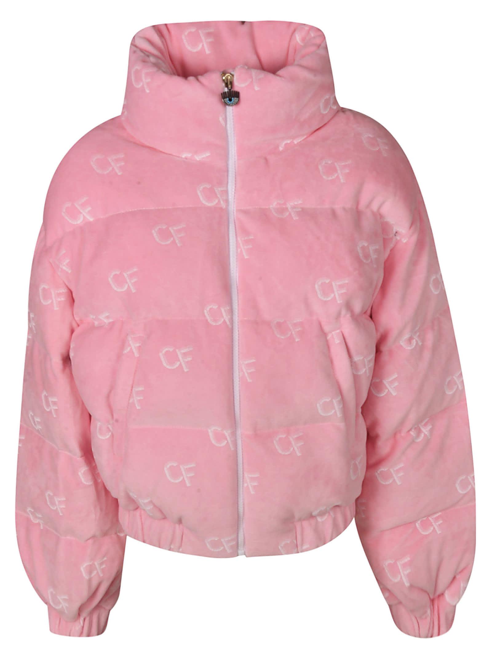 Chiara Ferragni Cf All-over Logo Padded Jacket