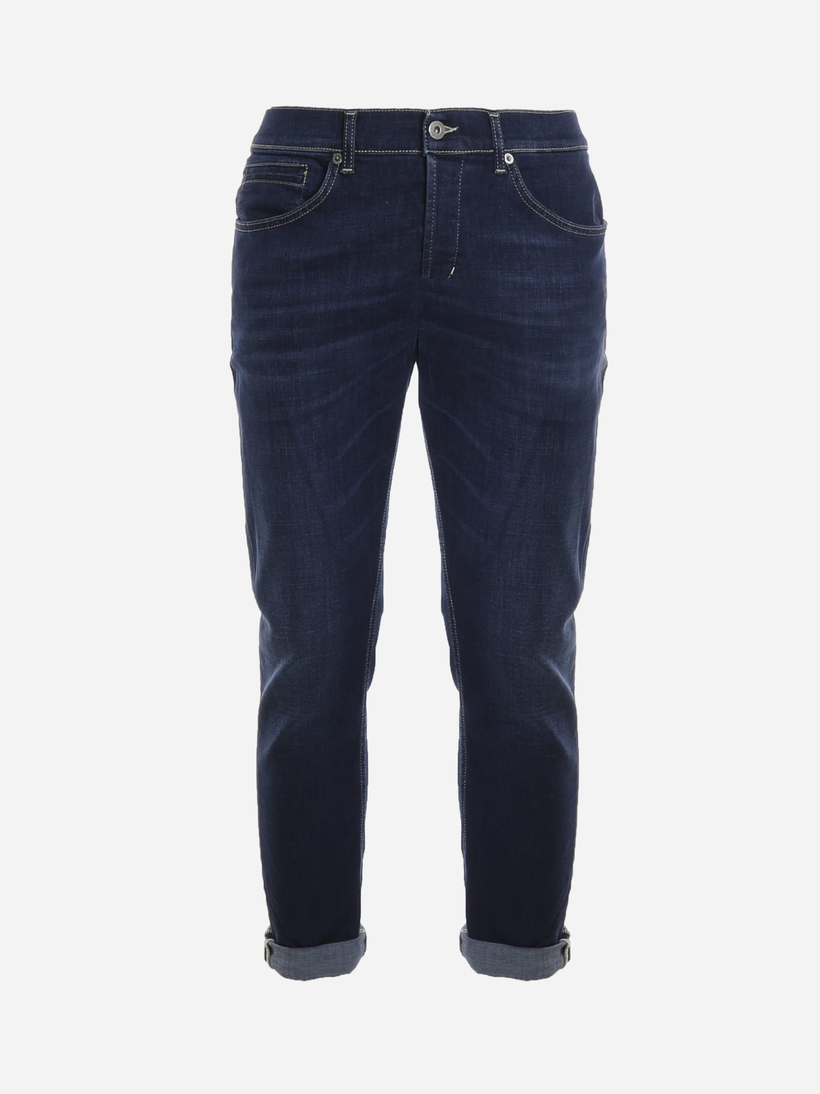 Dondup SKINNY JEANS IN WASHED-OUT DENIM