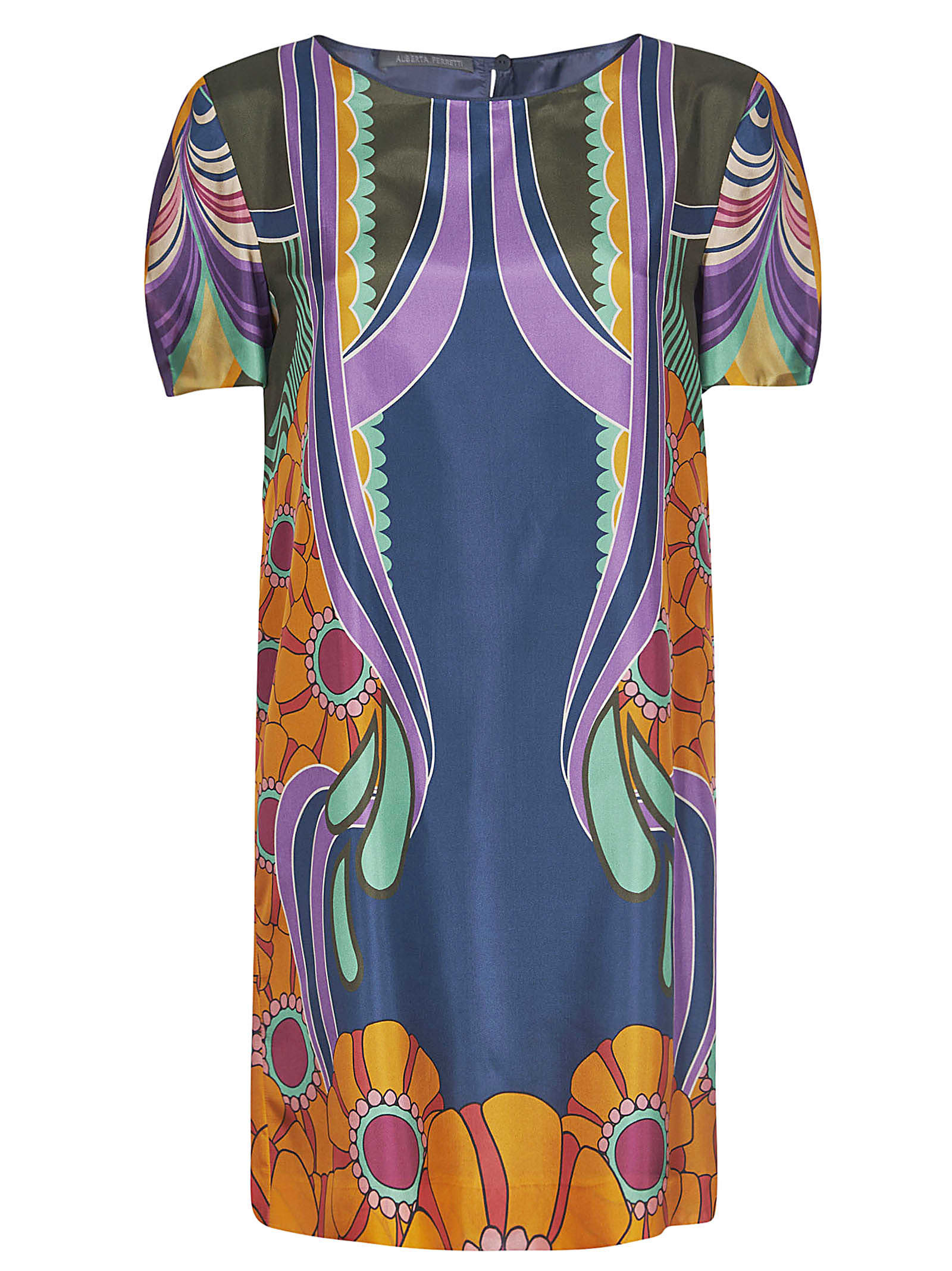 Buy Alberta Ferretti Classic Printed Dress online, shop Alberta Ferretti with free shipping