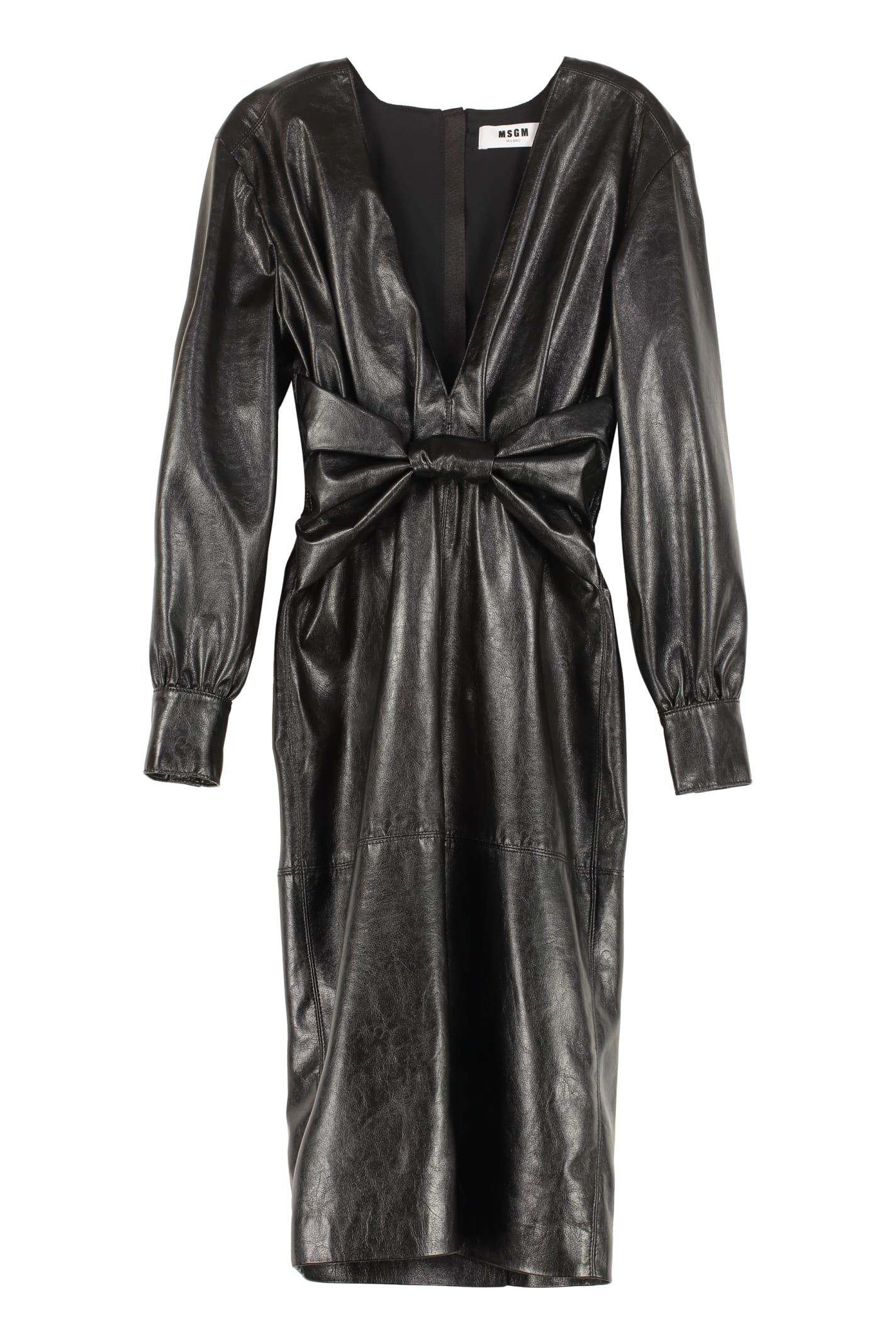 Buy MSGM Faux Leather Dress online, shop MSGM with free shipping