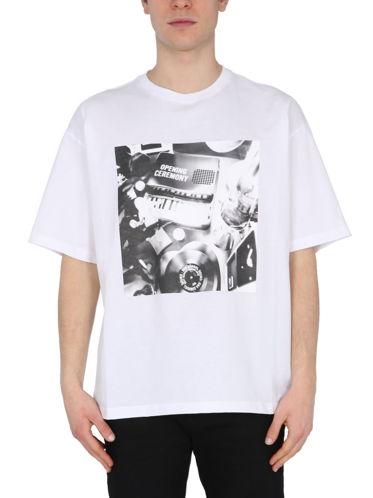 Opening Ceremony Clothing T-SHIRT WITH PIANOPRINT PRINT
