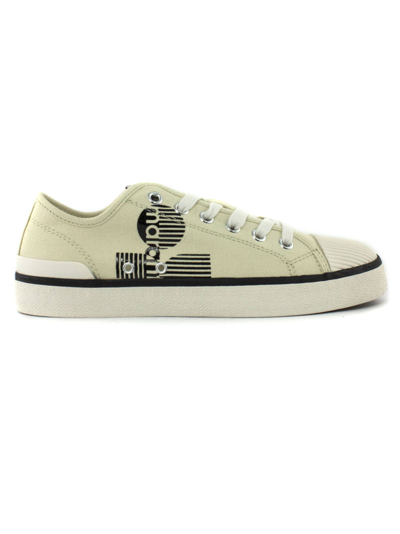 Isabel Marant White Cotton Sneakers