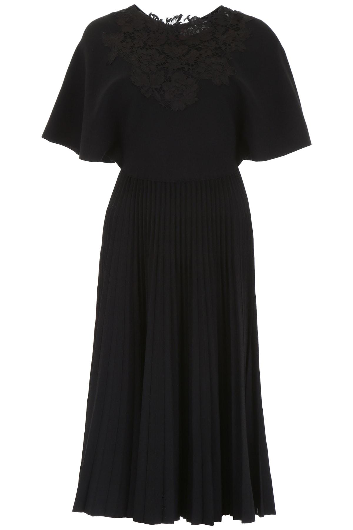 Valentino Pleated Jersey Dress