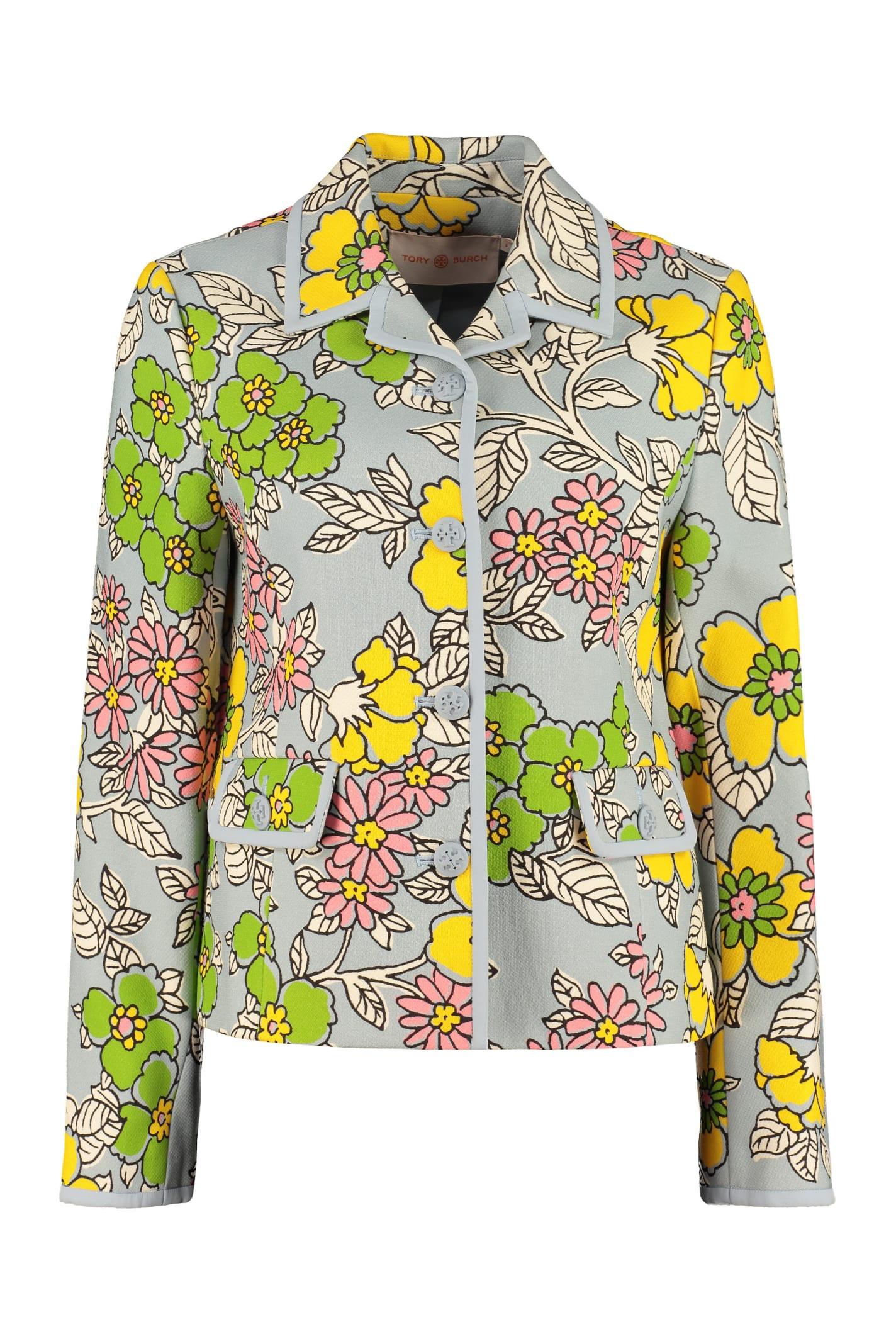 Tory Burch Floral Print Blazer
