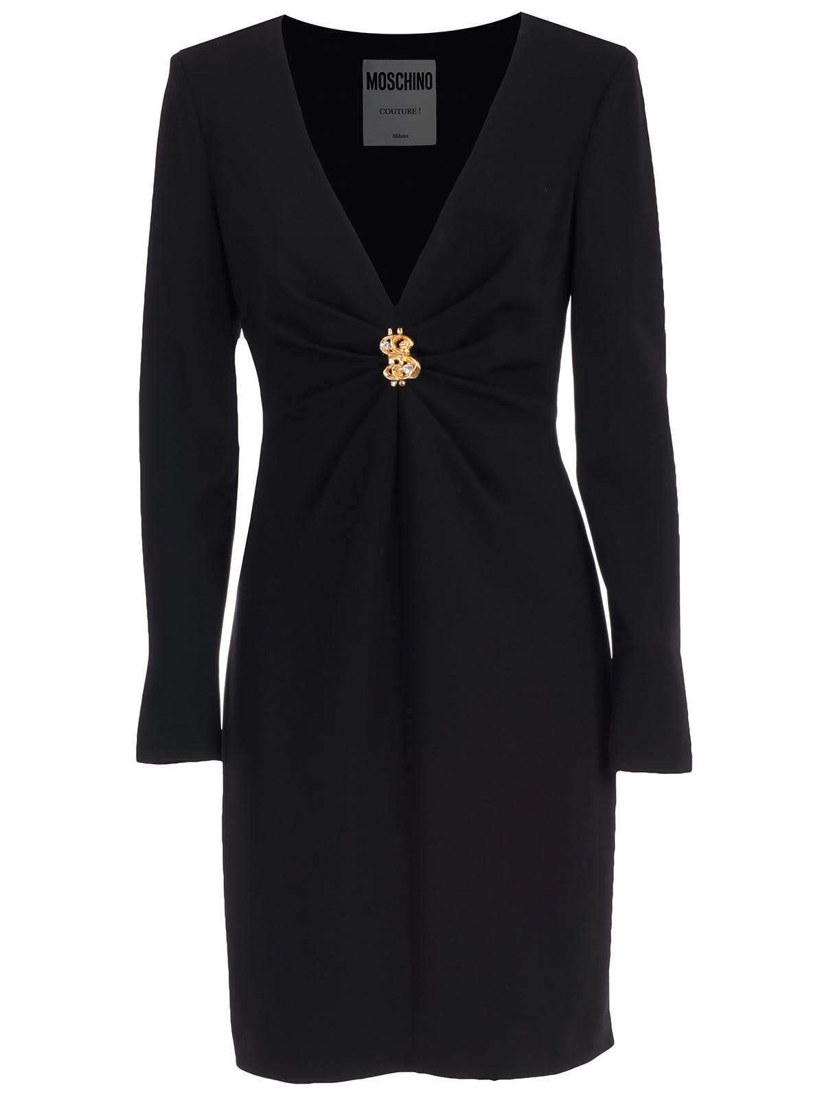 Buy Moschino Dress L/s V Neck online, shop Moschino with free shipping